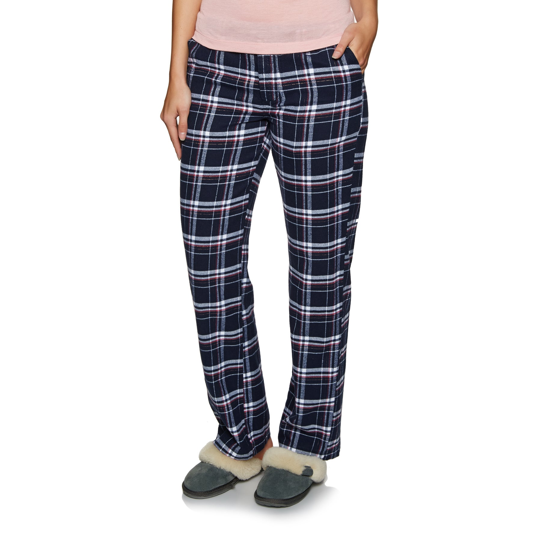 Superdry Millie Pant Womens Loungewear - Navy Check