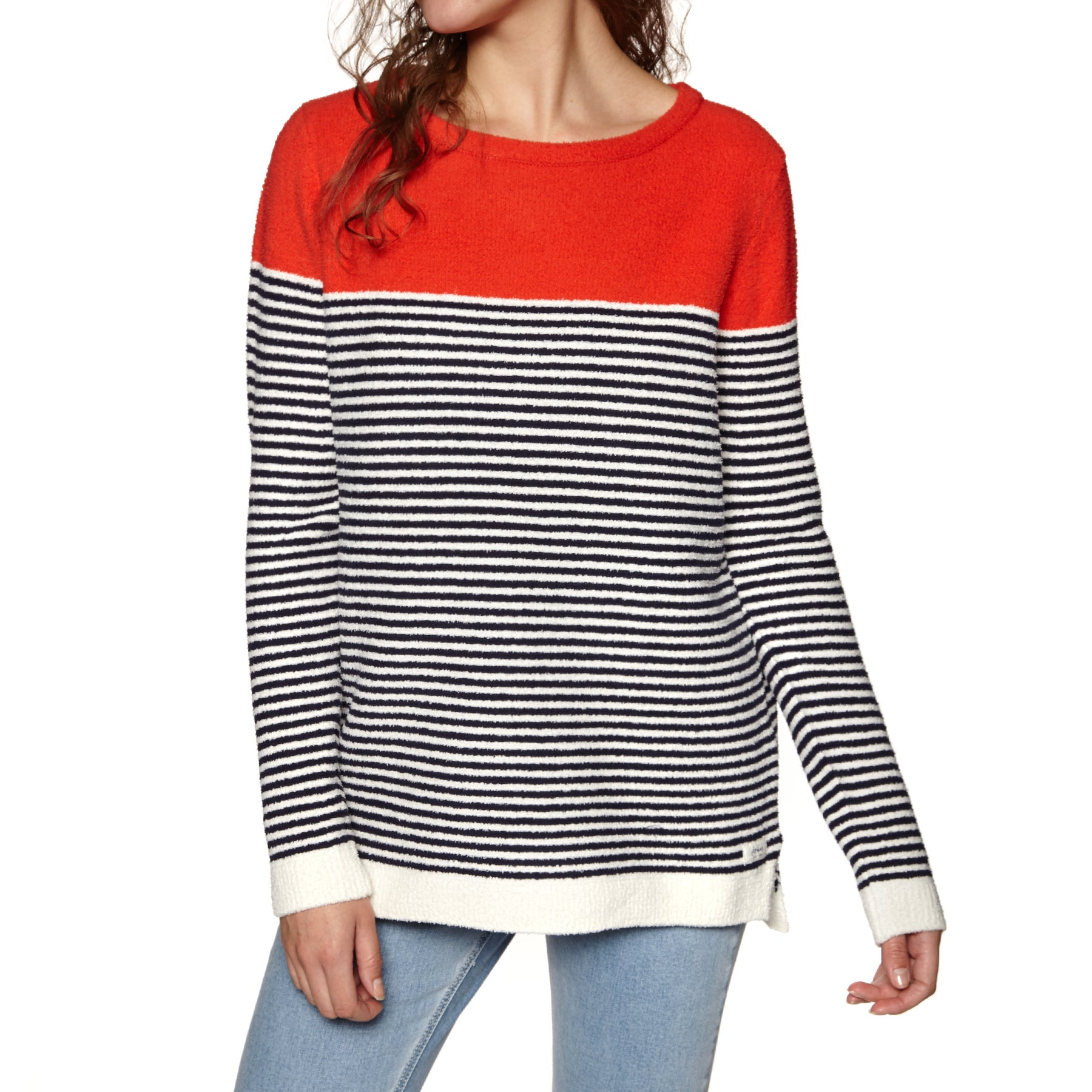 Sweat Femme Joules Seabridge Chenille - Navy Creme Red