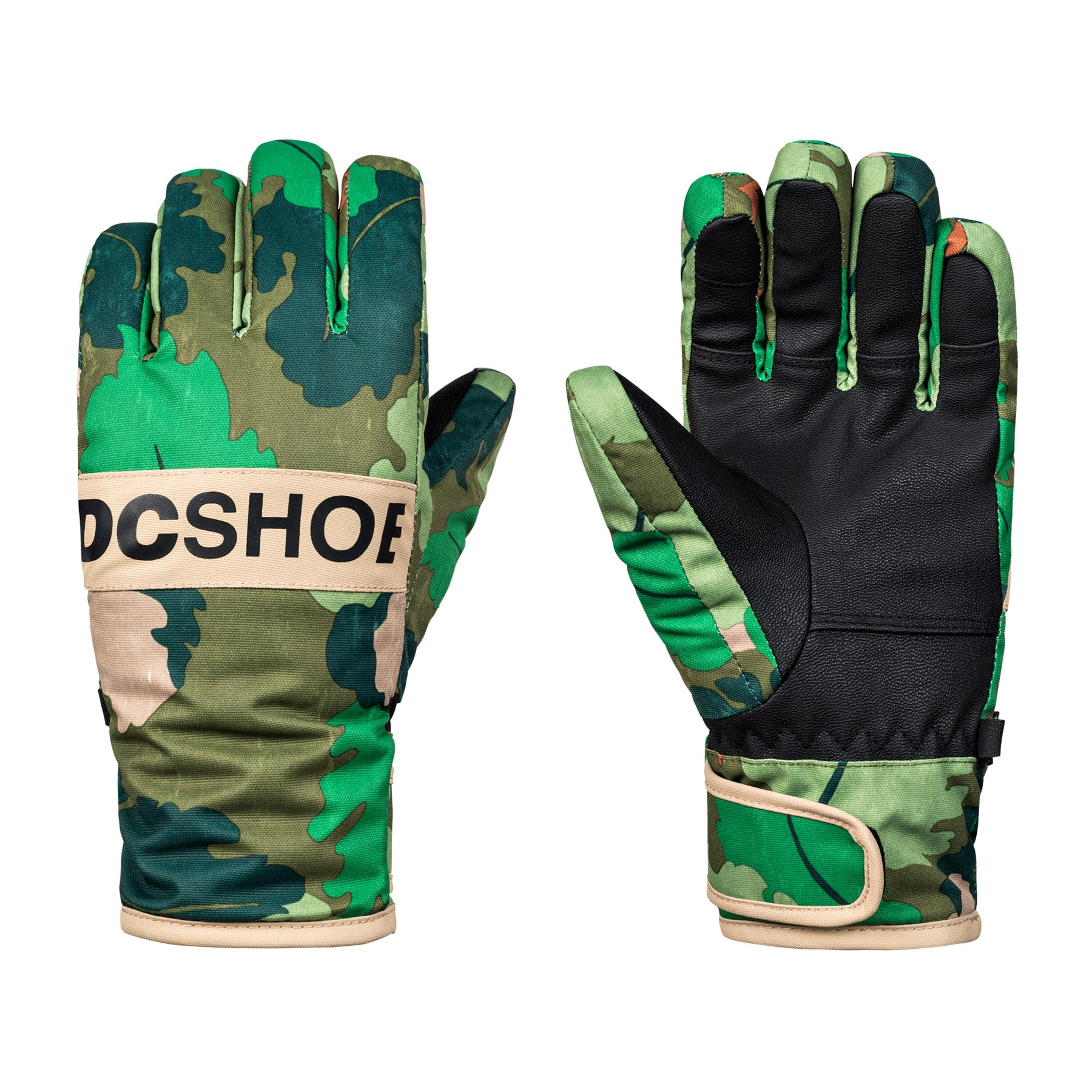 DC Franchise Boys Snow Gloves - Chive Leaf Camo Youth