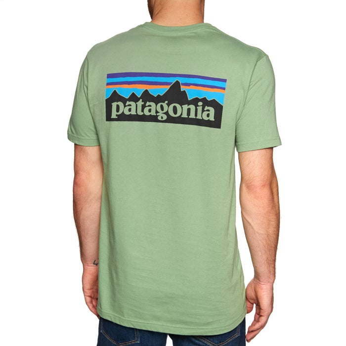 627e053d2b7 Patagonia P-6 Logo Organic Short Sleeve T-Shirt available from Surfdome