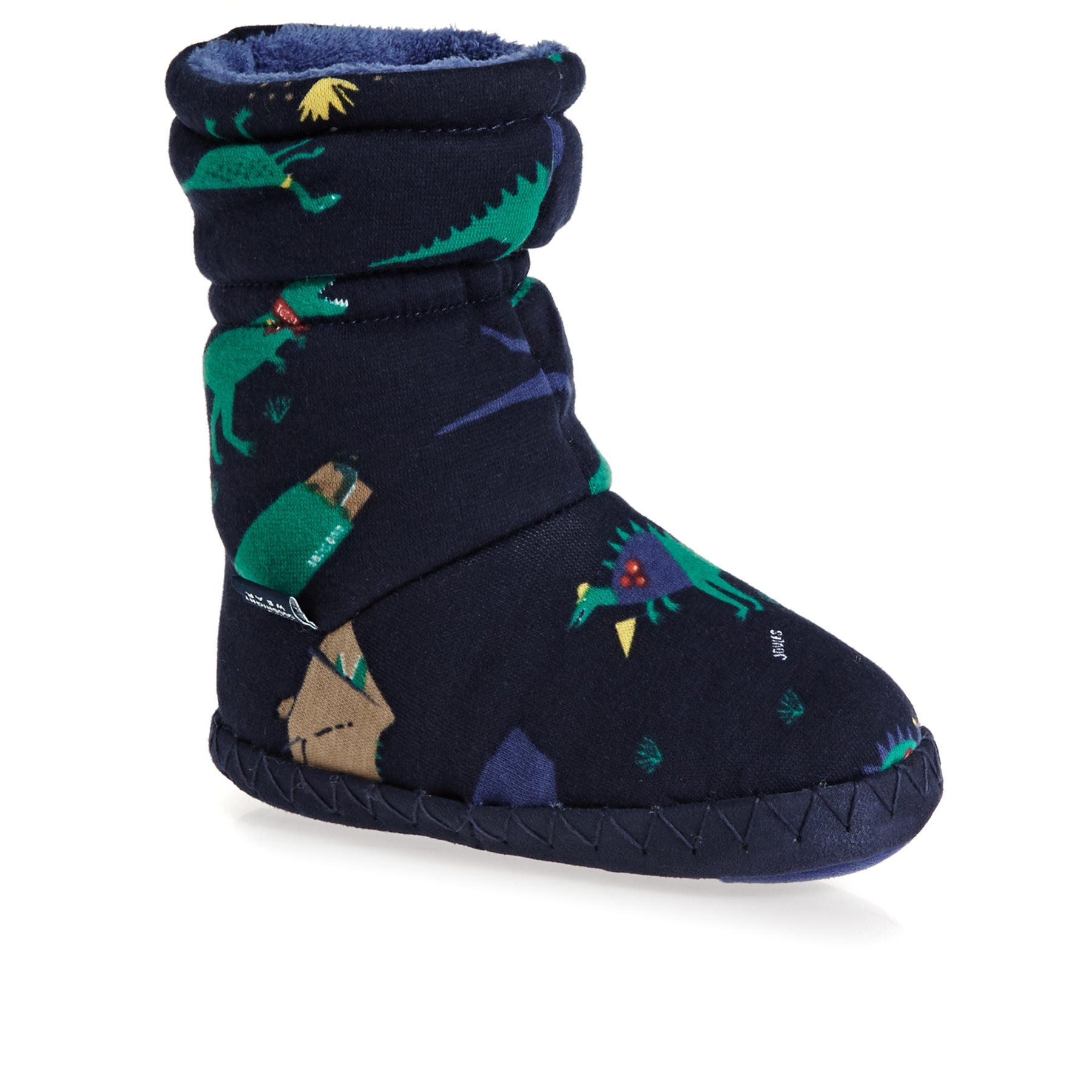 Joules Padabout Slippers - French Navy Dinosaur