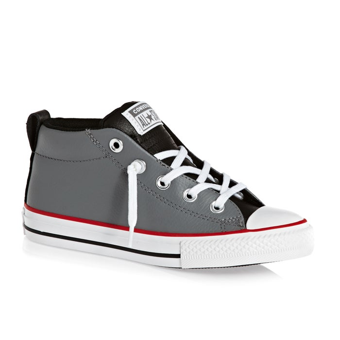 07192b577e1f Converse Chuck Taylor All Star Leather Street Mid Kids Shoes ...