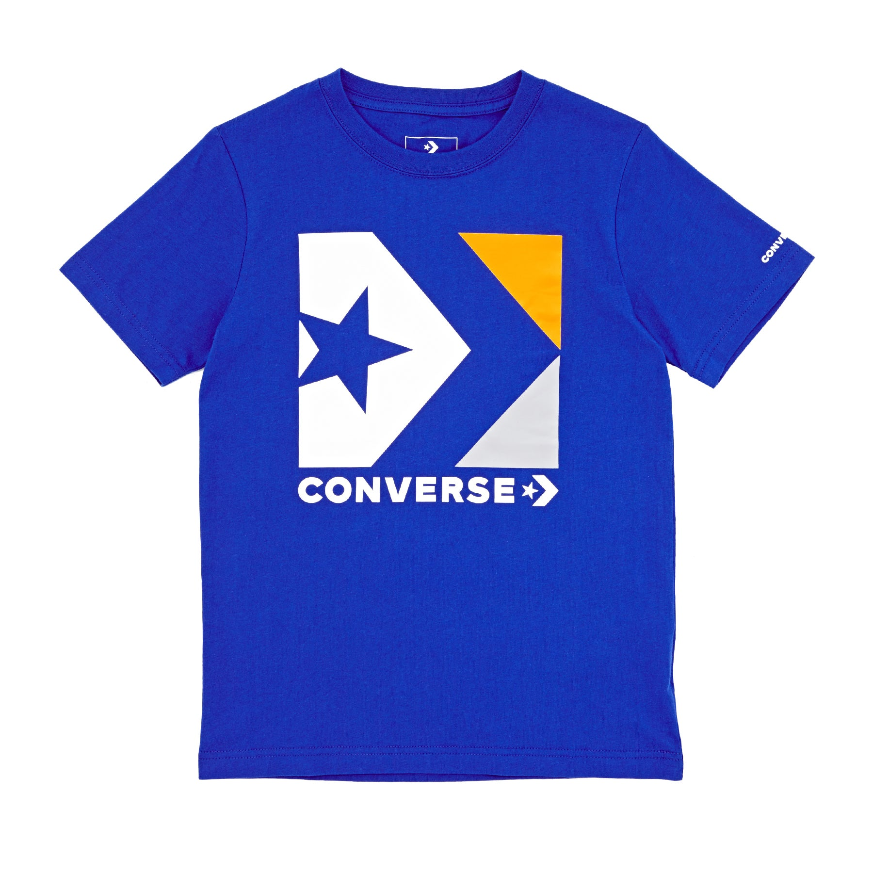 Converse Star Chevron Box Boys Long Sleeve T-Shirt - Blue