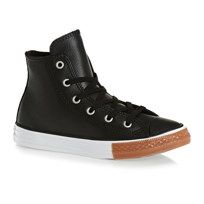 d17c602bb42f Converse Chuck Taylor All Star Youth Classic Hi Leather Kids Shoes ...