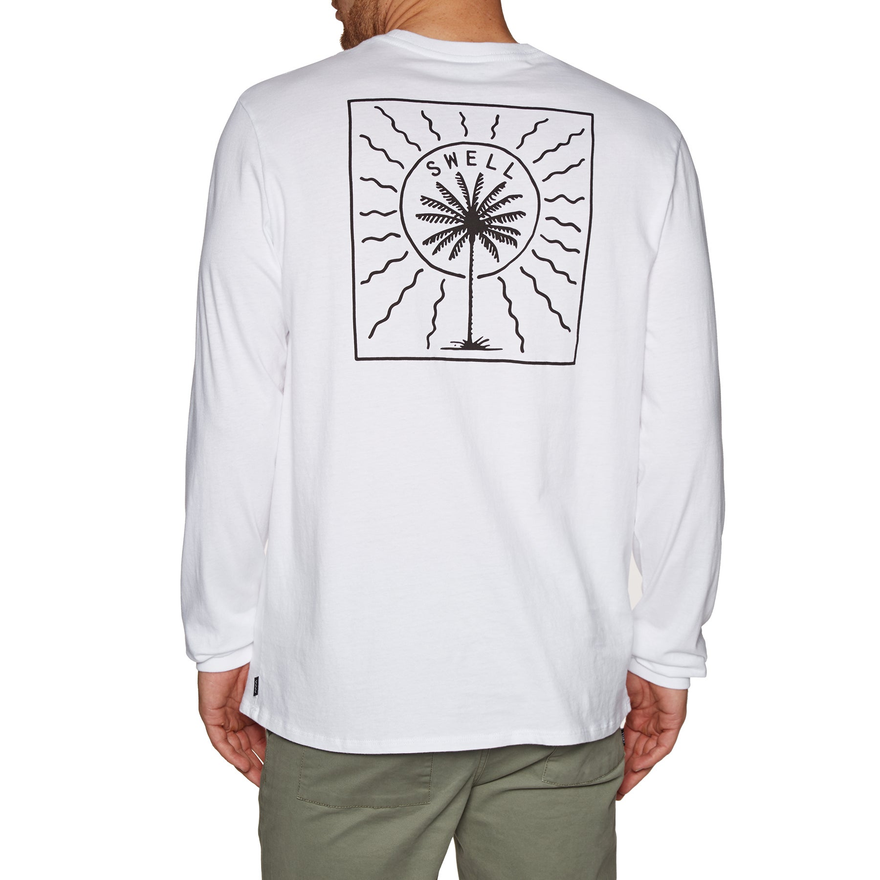 SWELL Palms Long Sleeve T-Shirt - White