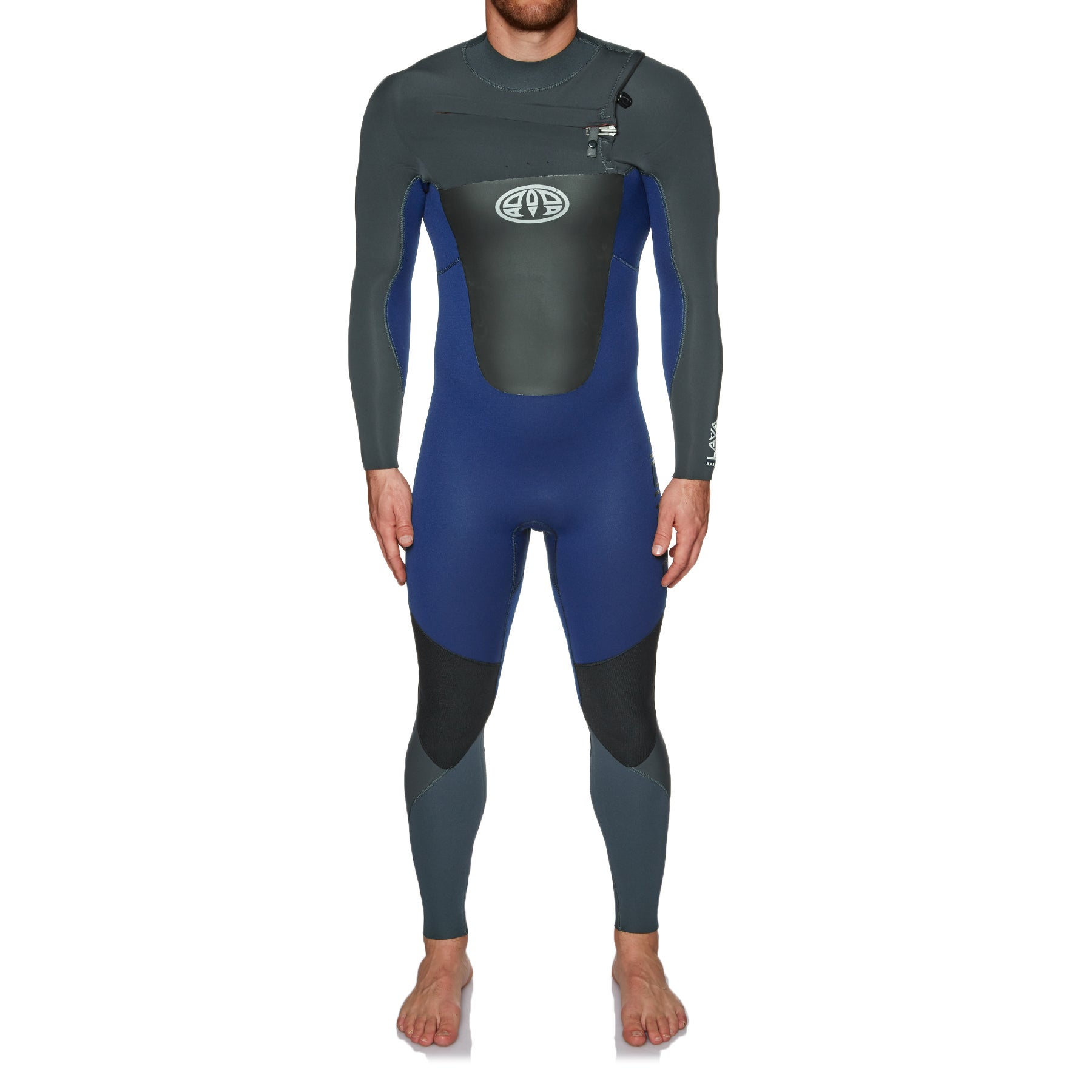 Animal Lava 5/4/3mm Chest Zip Wetsuit - Dark Navy