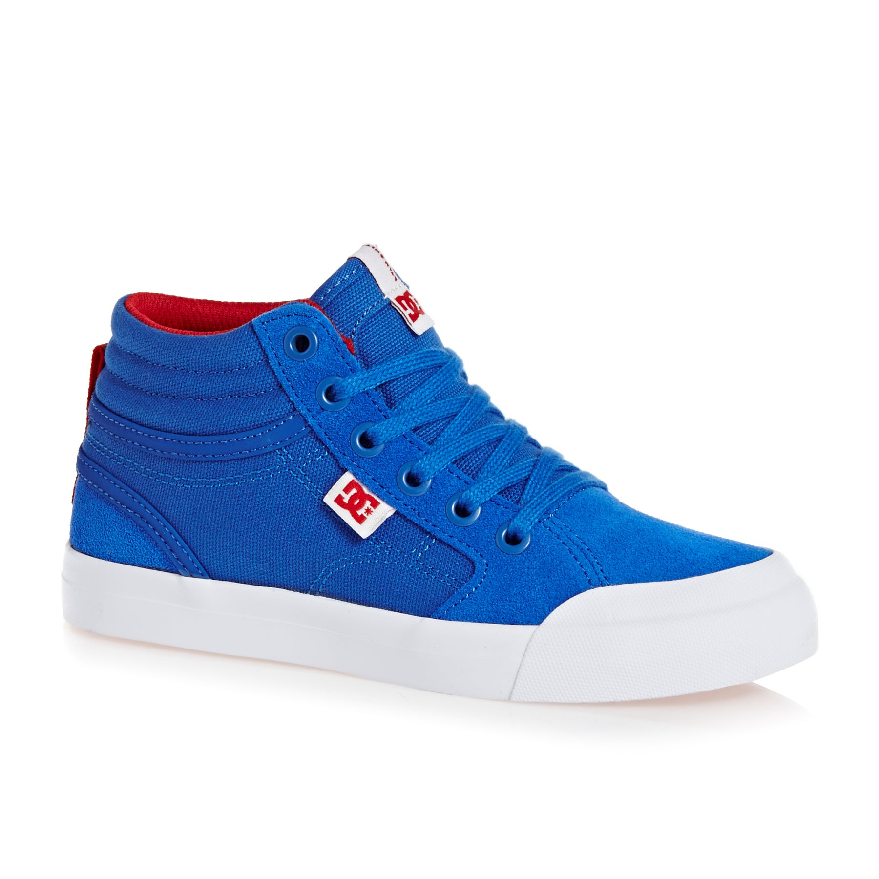 DC Evan Hi Boys Shoes - Royal True Red