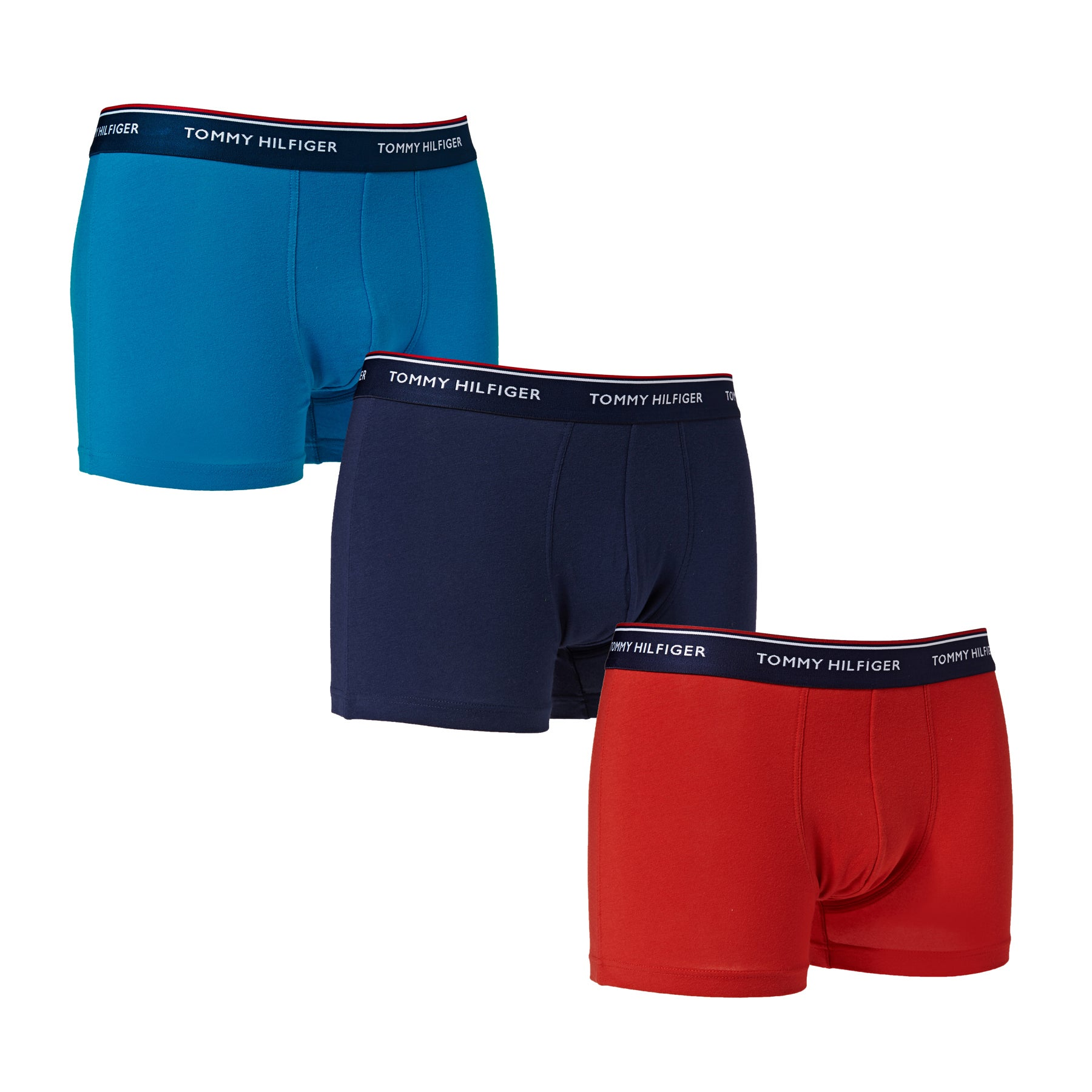 Caleçons Tommy Hilfiger 3 Pack - Mykonos Blue Pompeian Red Peacot