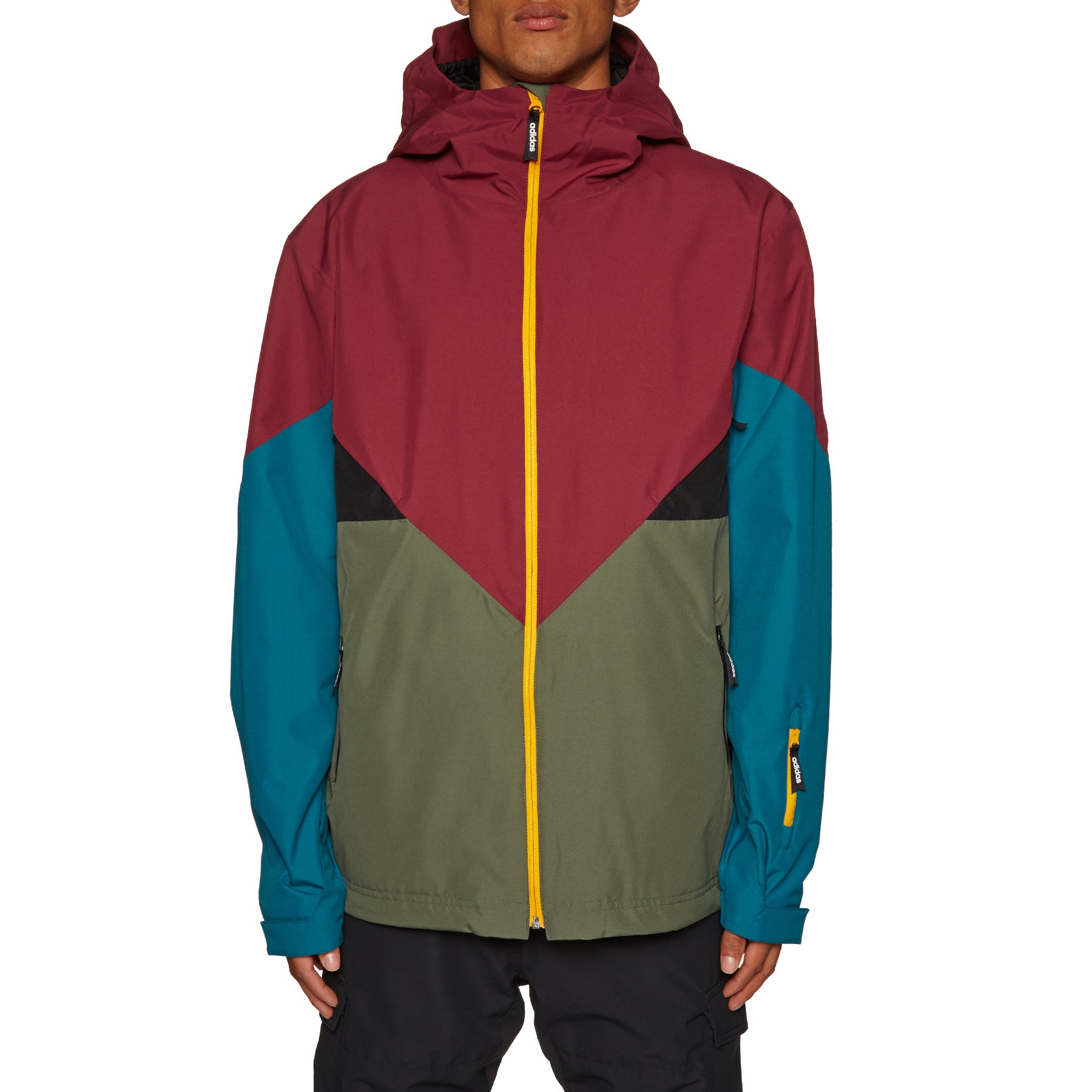 Adidas Snowboarding Premiere Riding Snow Jacket - Base Green Noble Maroon Real Teal Collegiate Gold