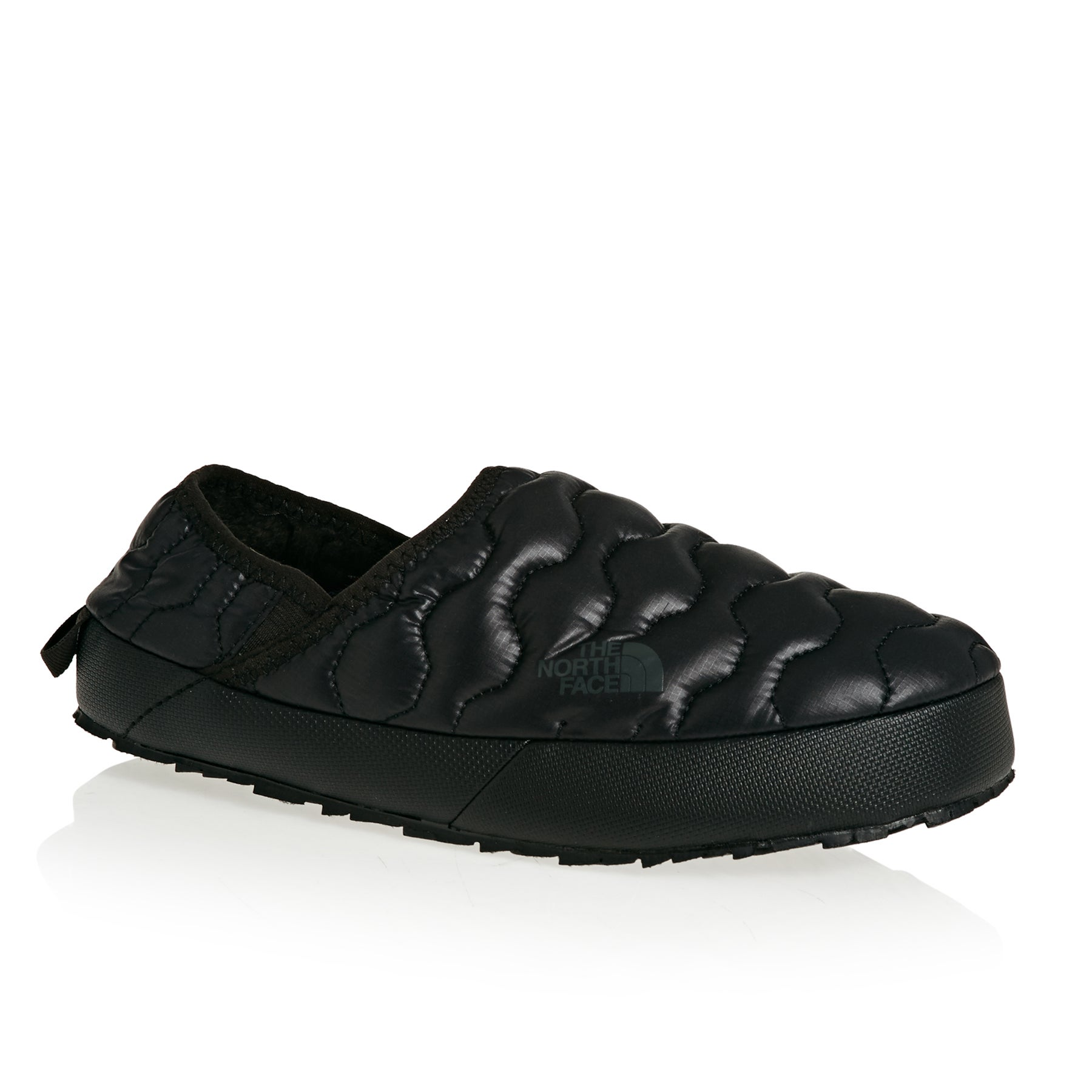 North Face Thermoball Traction Mule IV Womens Slippers - Shiny TNF Black Beluga Grey