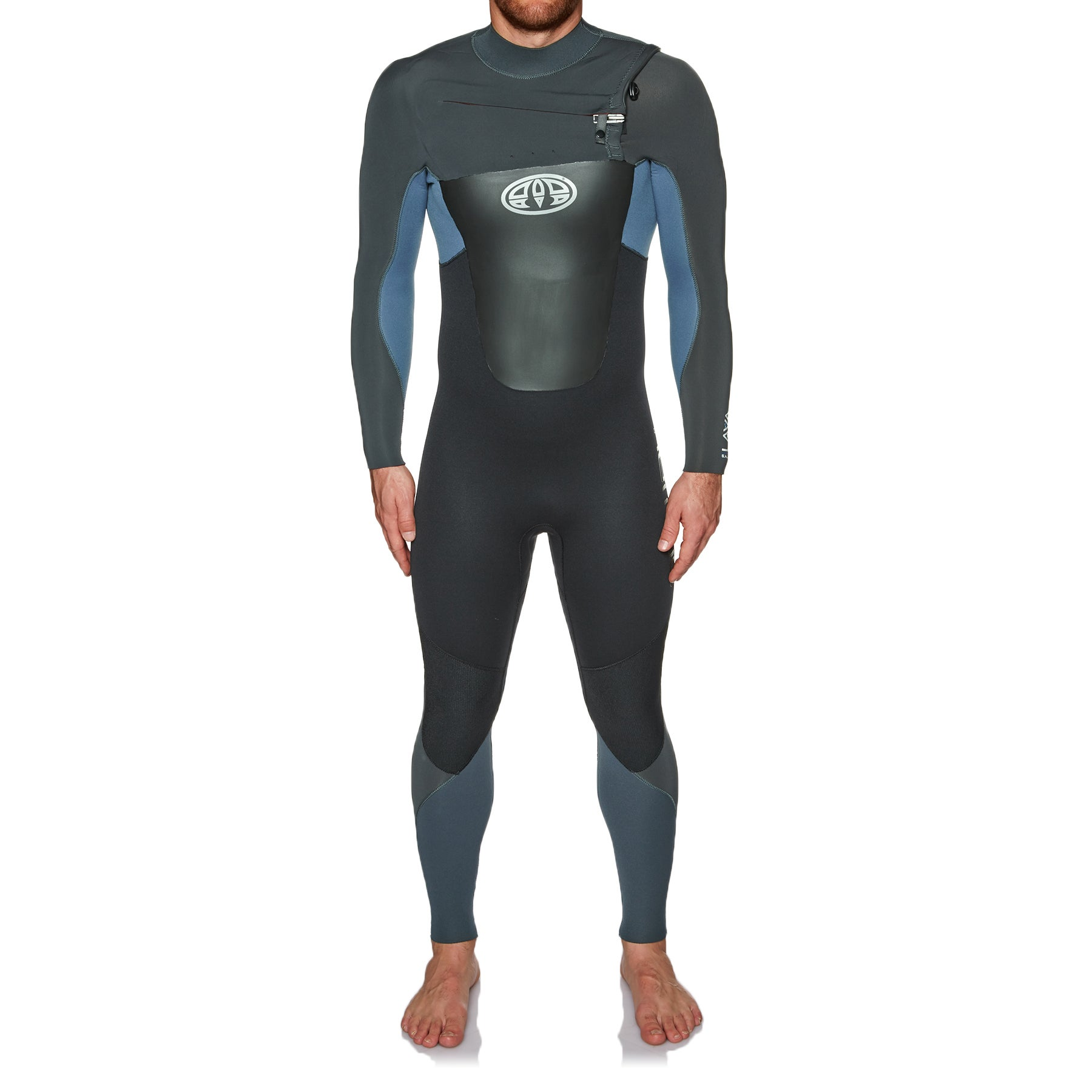 Animal Lava 5/4/3mm Chest Zip Wetsuit - Pewter Blue