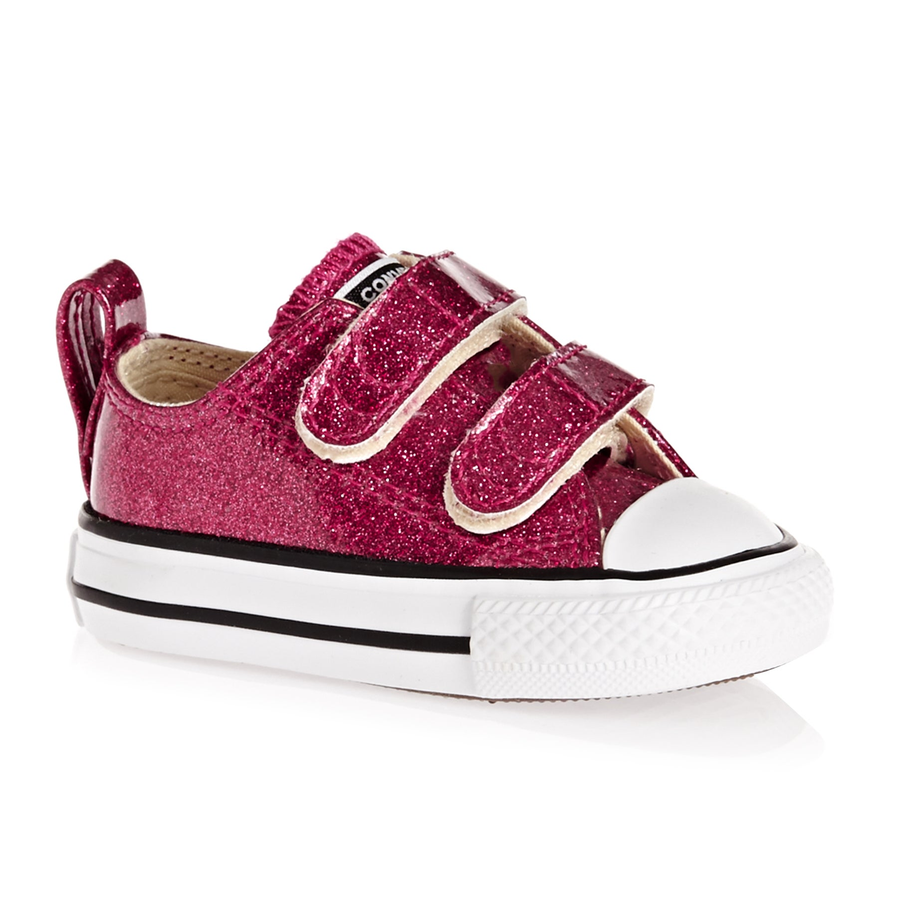 Converse Chuck Taylor All Star 2v Ox Glitter Baby Shoes - Pink Pop/natural/white