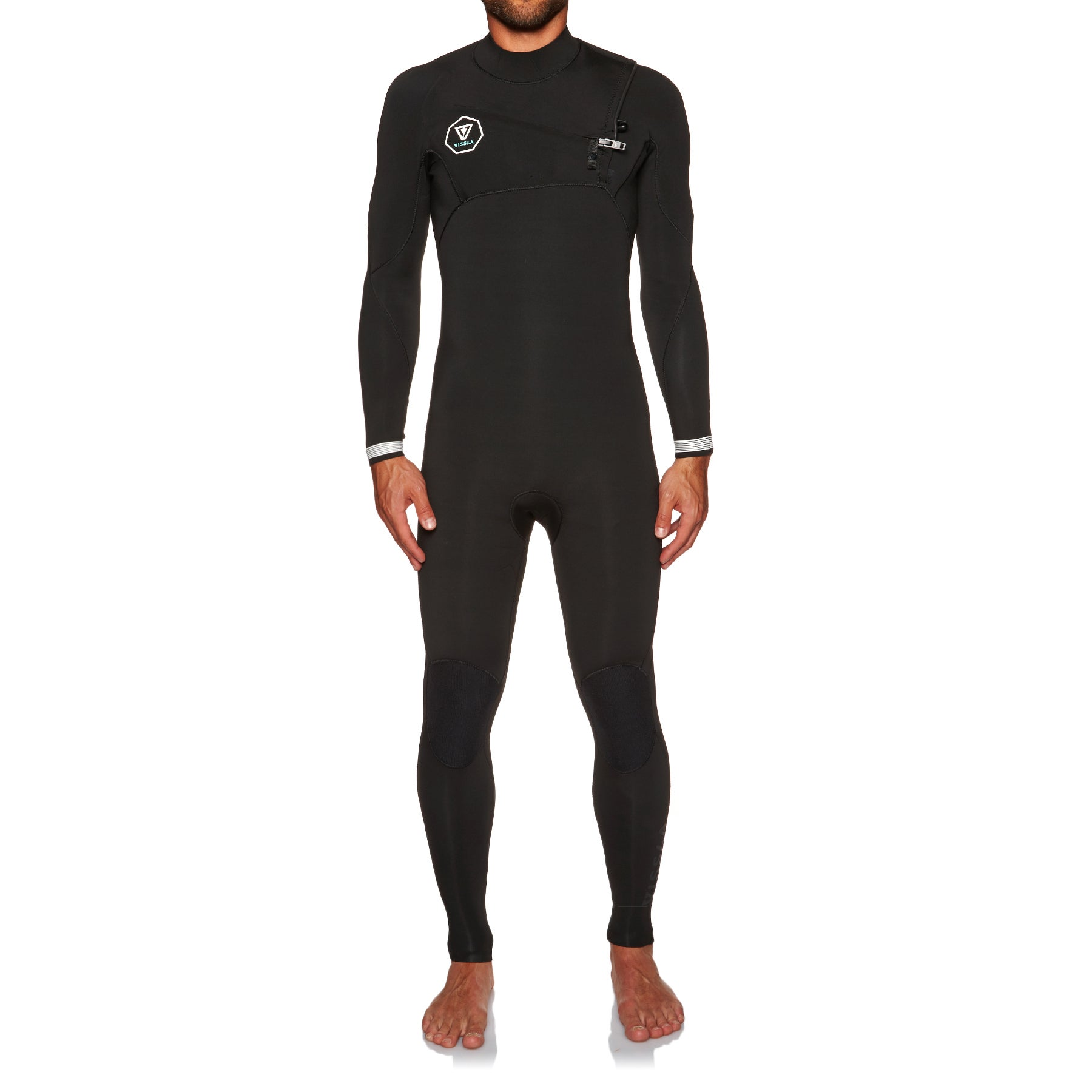 Combinaison de Plongée Vissla 7 Seas 2mm Chest Zip - Black With White