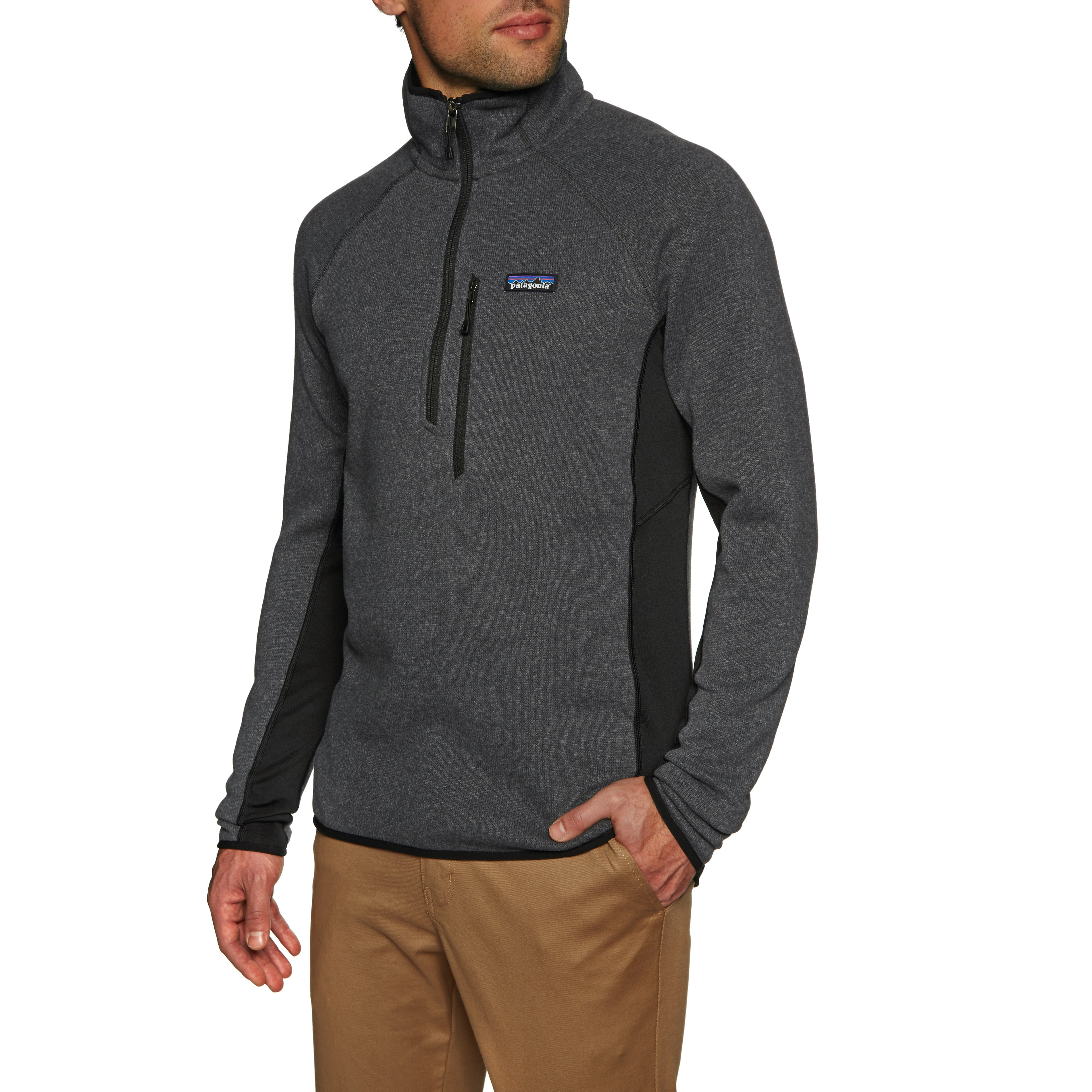 Patagonia Performance Better Sweater Quarter Zip Fleece - Forge Grey Black