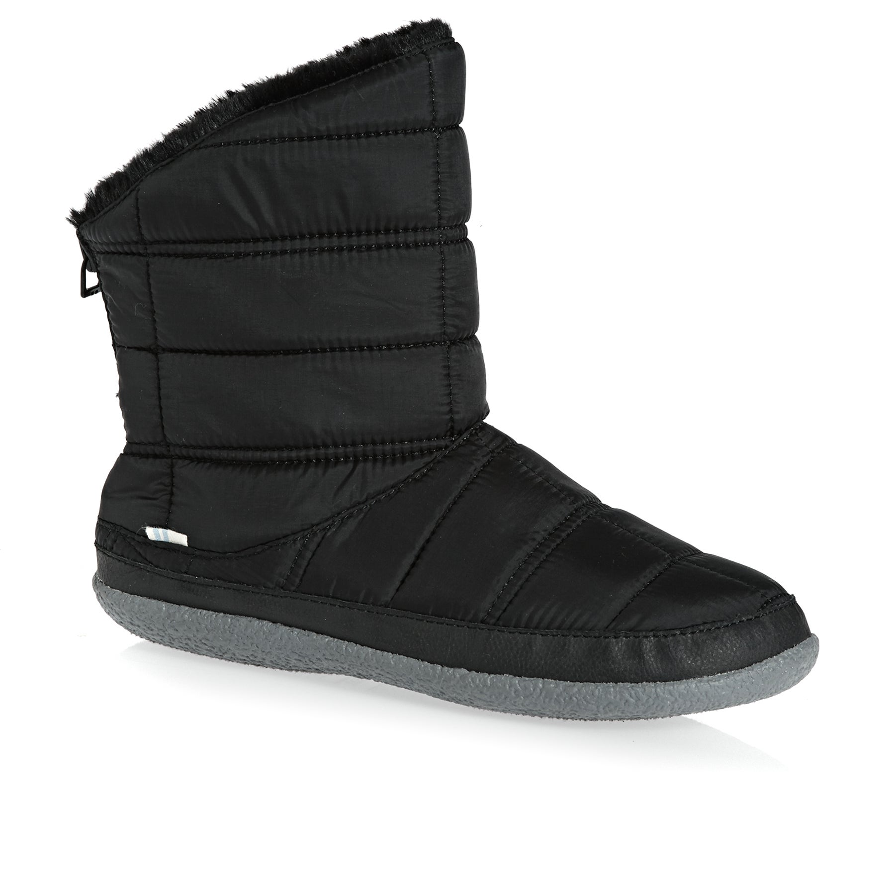 Toms Inez Stellar Quilted Womens Slippers - Black
