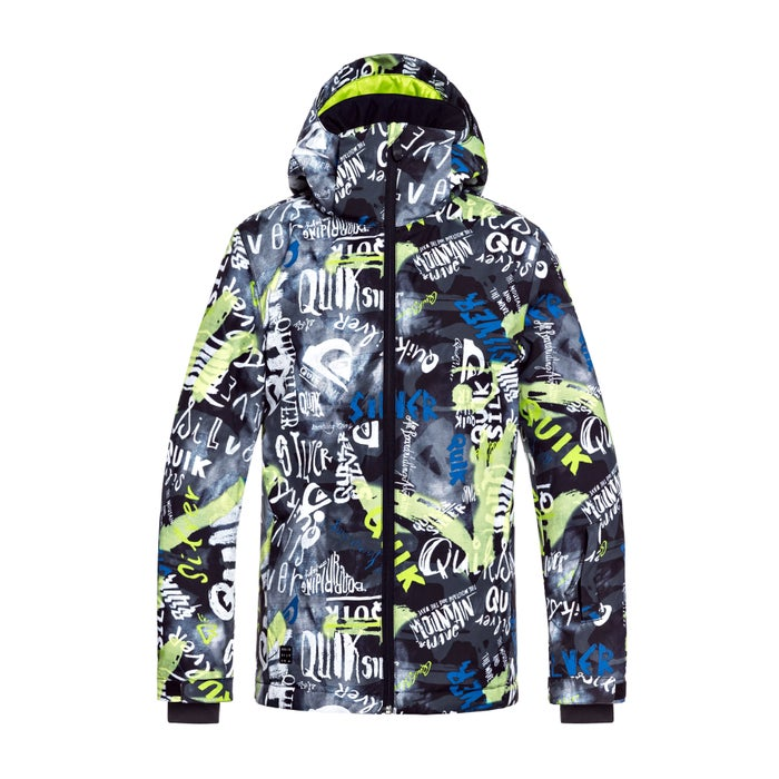 169eb134788 Quiksilver Boys Mission Printed Kids Snow Jacket available from Surfdome