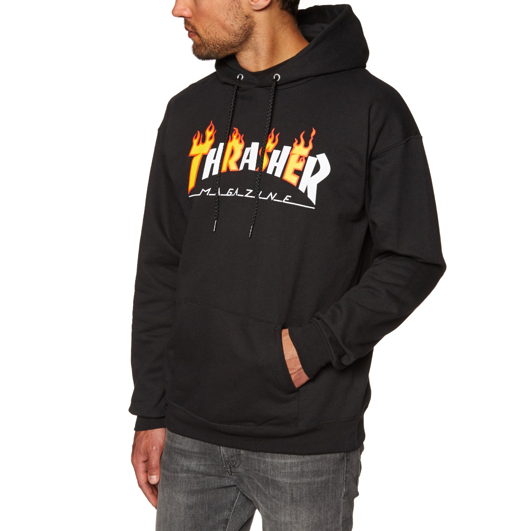 Jersey con capucha Thrasher Flame Mag - Black