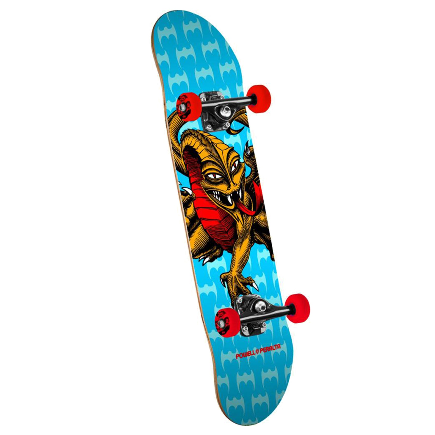 Powell Cab Dragon One Off Mini 191 7.5 Inch Complete Skateboard - Blue