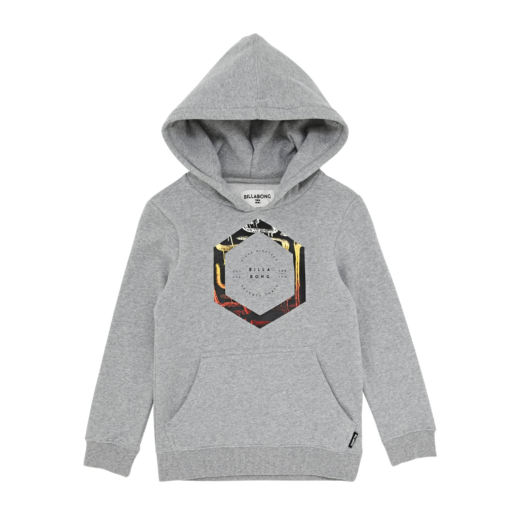 Billabong Howling Boys Pullover Hoody - Grey Heather