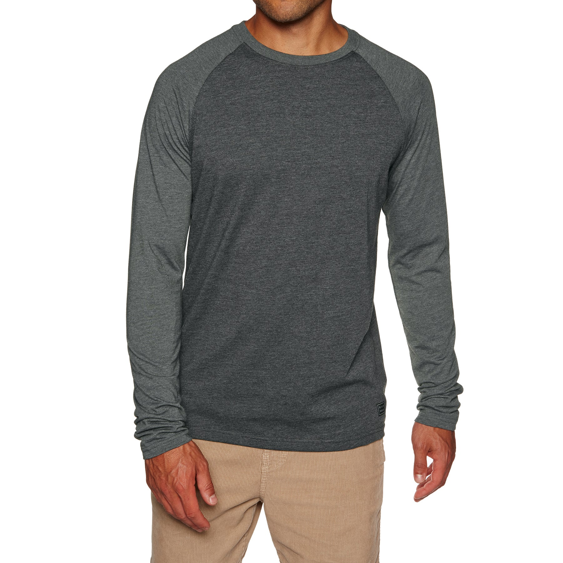 Billabong Woven Crew Long Sleeve T-Shirt - Black