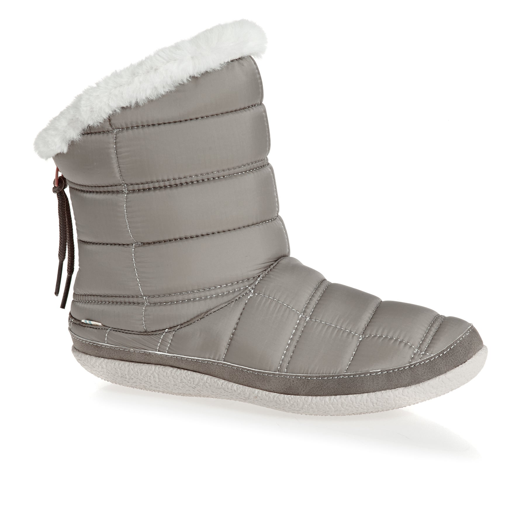 Toms Inez Stellar Quilted Womens Slippers - Cement Grey