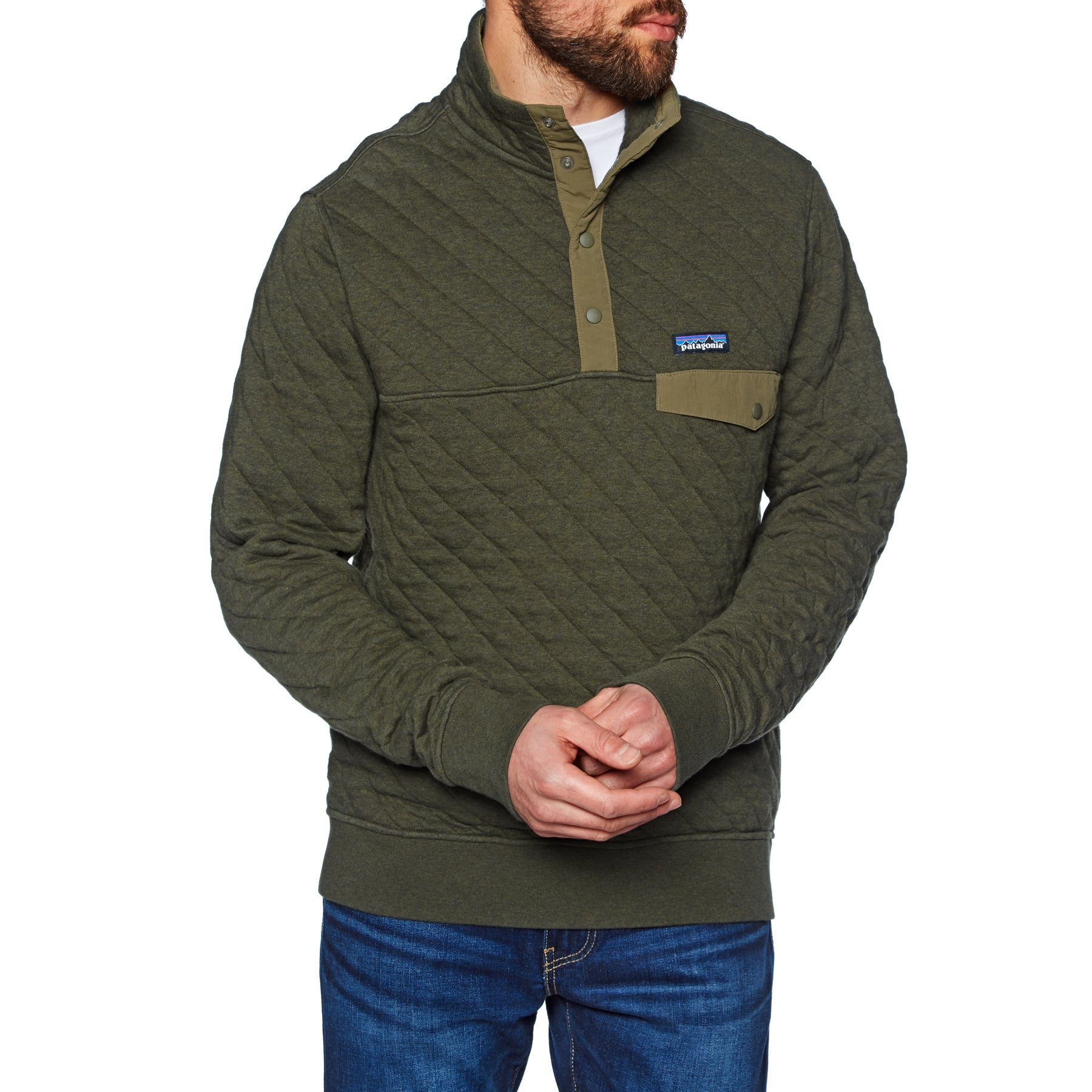 Patagonia Organic Cotton Quilt Snap-T Pullover Sweater - Sediment