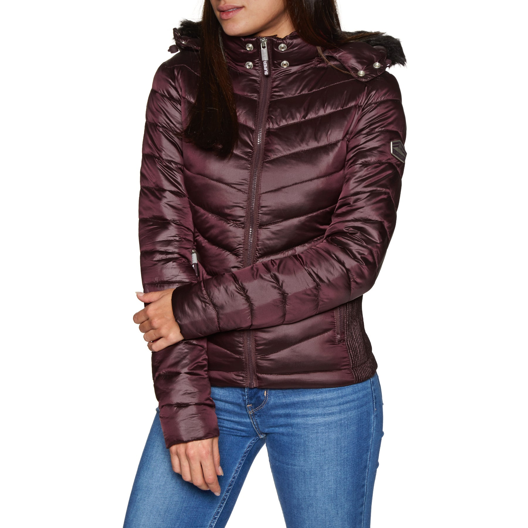 e70f39e5425c Superdry Hooded Luxe Chevron Fuji Womens Jacket available from Surfdome