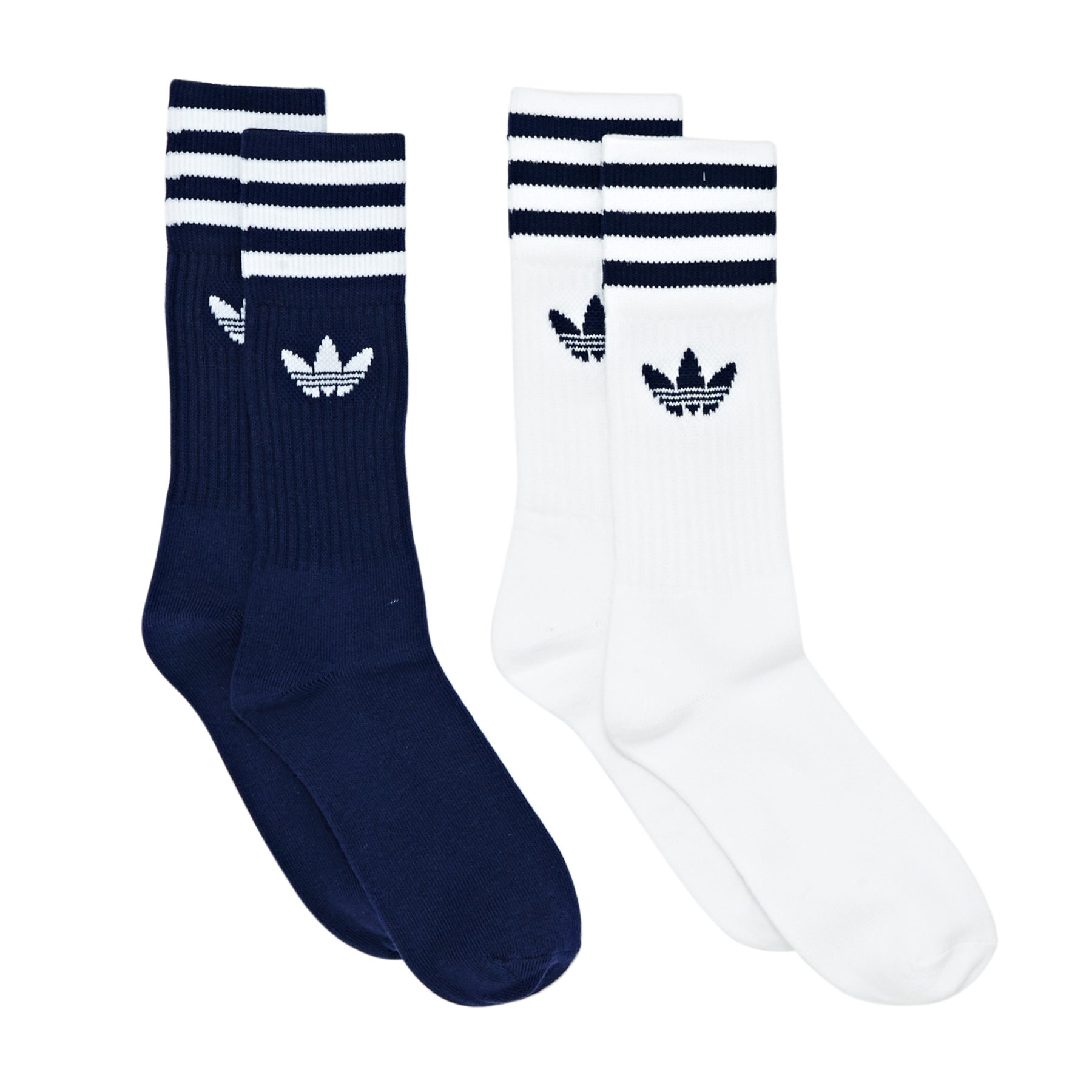 Adidas Originals Solid Crew 2pack Socks - Dark Blue White
