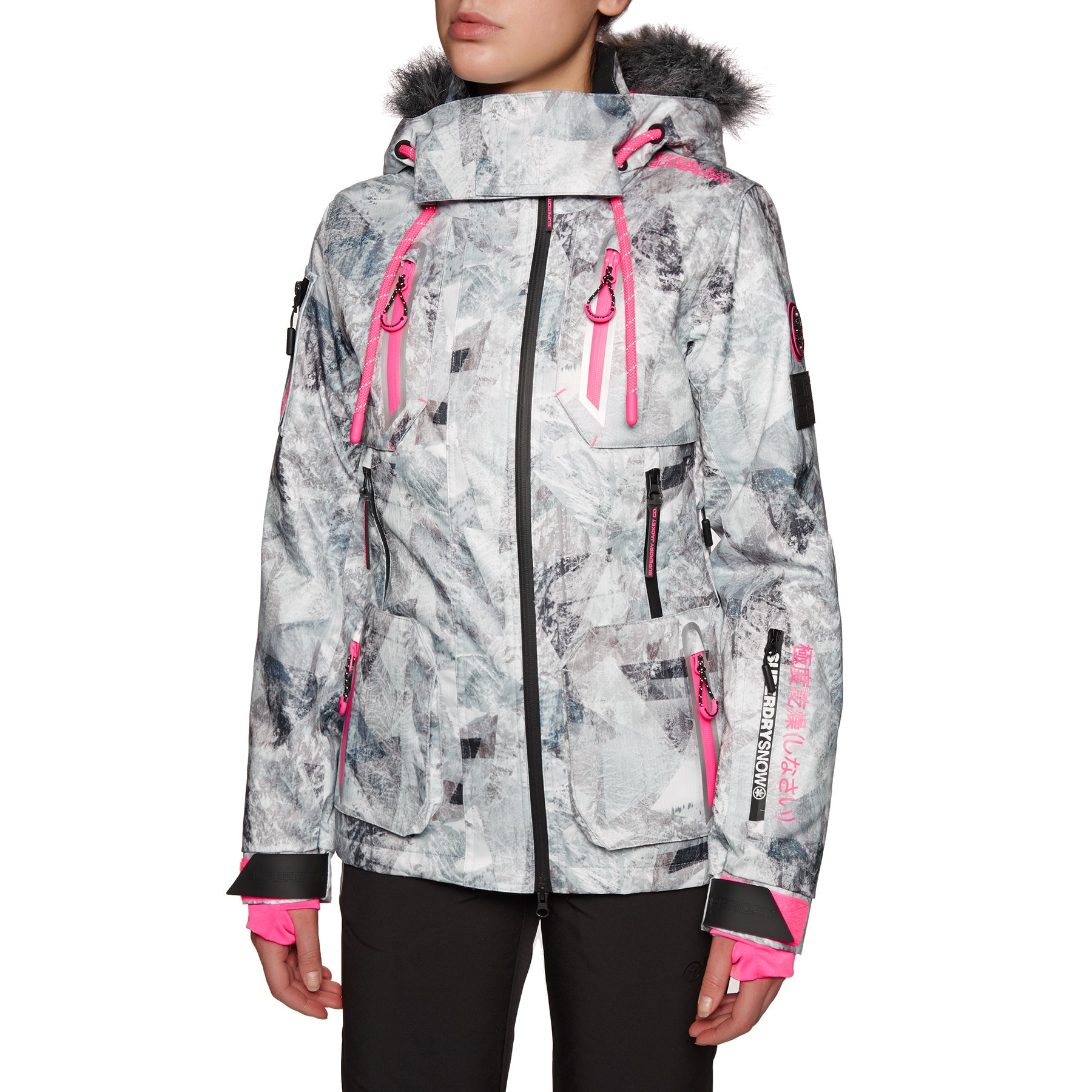 Superdry Ultimate Snow Action Womens Snow Jacket - Frosted Geo Mountain