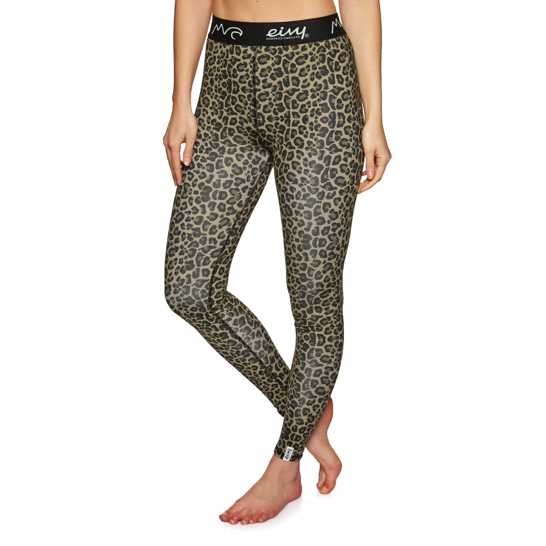 Eivy Icecold Tights Leopard L Womens Base Layer Leggings - Leopard