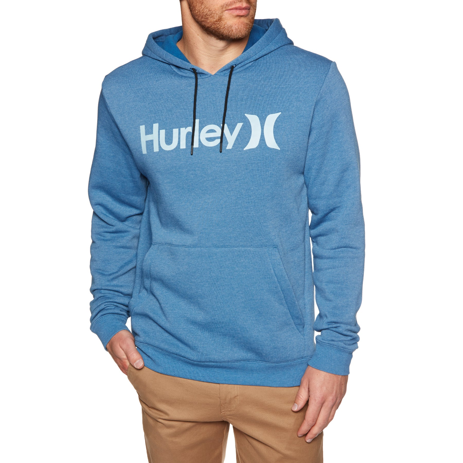 Hurley Surf Check One & Only Pullover Hoody - Blue Force Htr
