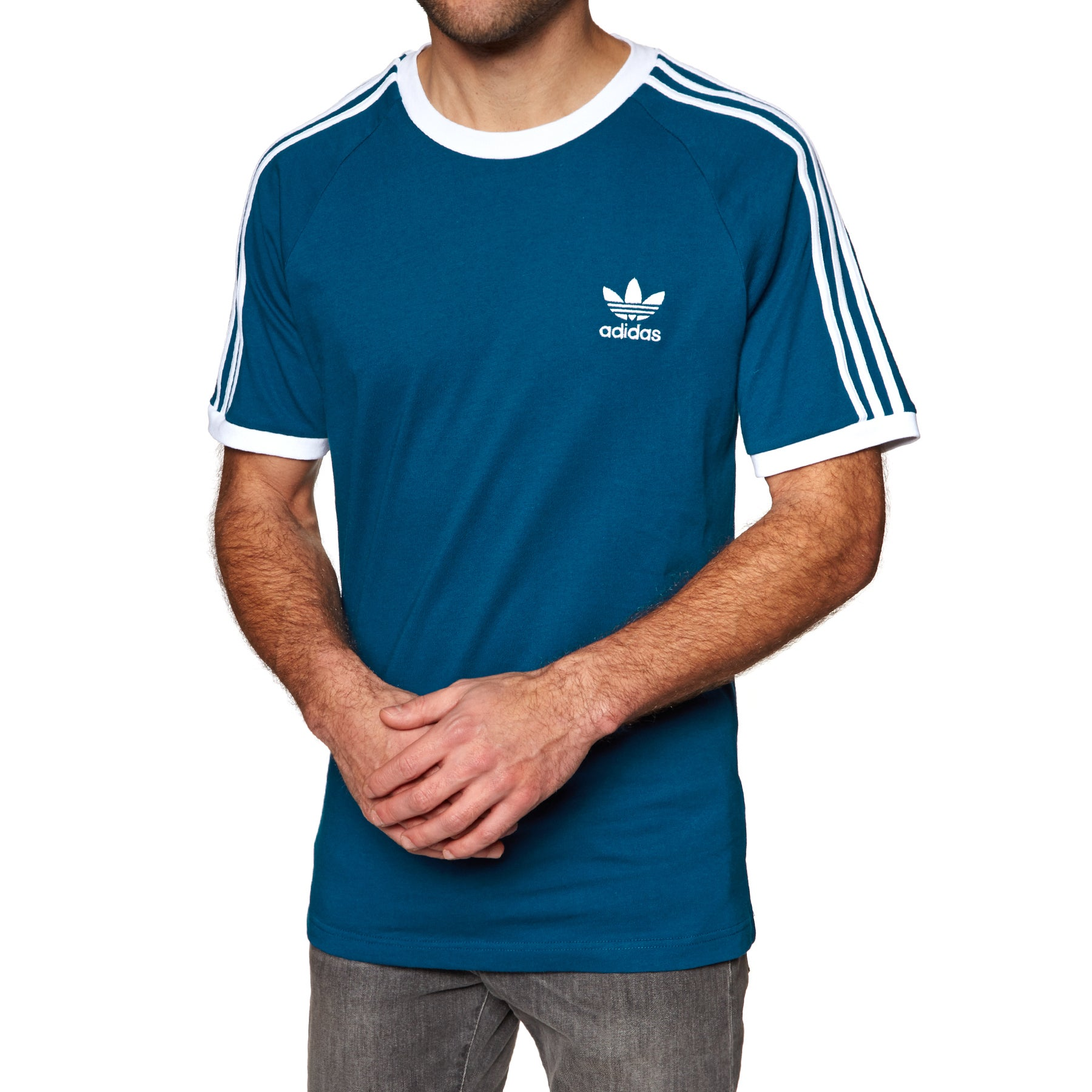 Adidas Originals 3 Stripes Short Sleeve T-Shirt - Legend Marine