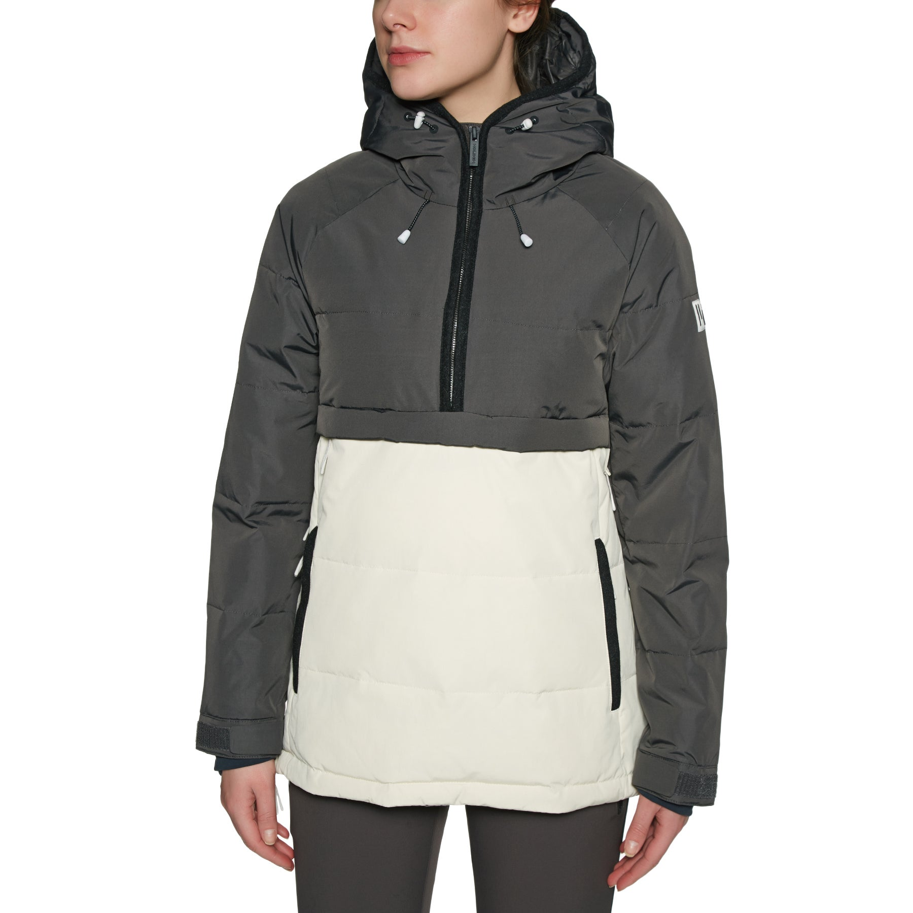 Chaqueta de snowboard Mujer Holden Side Zip Puffer - Shadow Bone