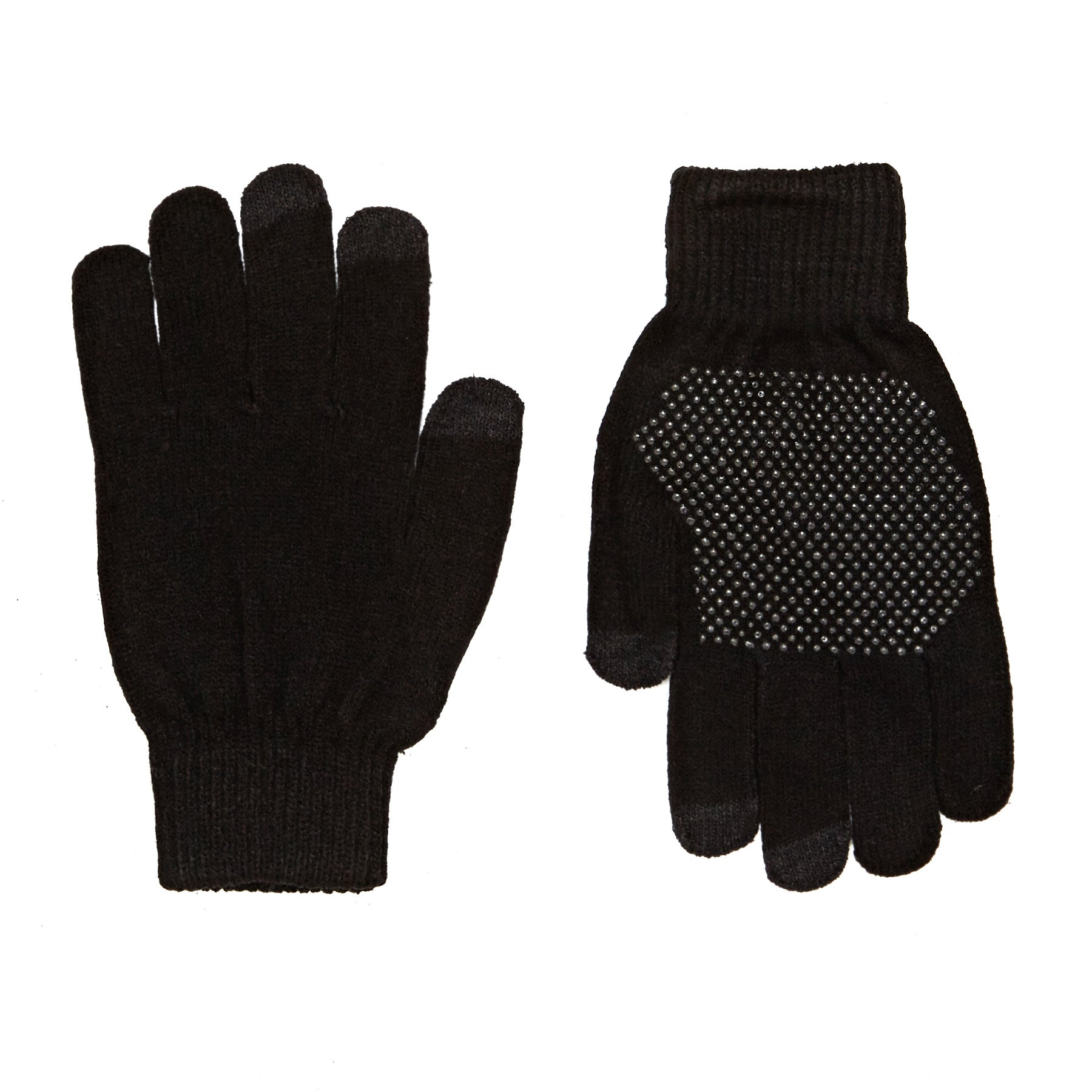 Solta Warm Knitted Palm Grip Gloves - Black