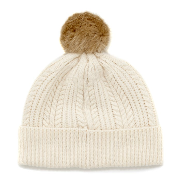 ddbf0f43e0e53 Joules Cable Knit Bobble Womens Beanie available from Surfdome