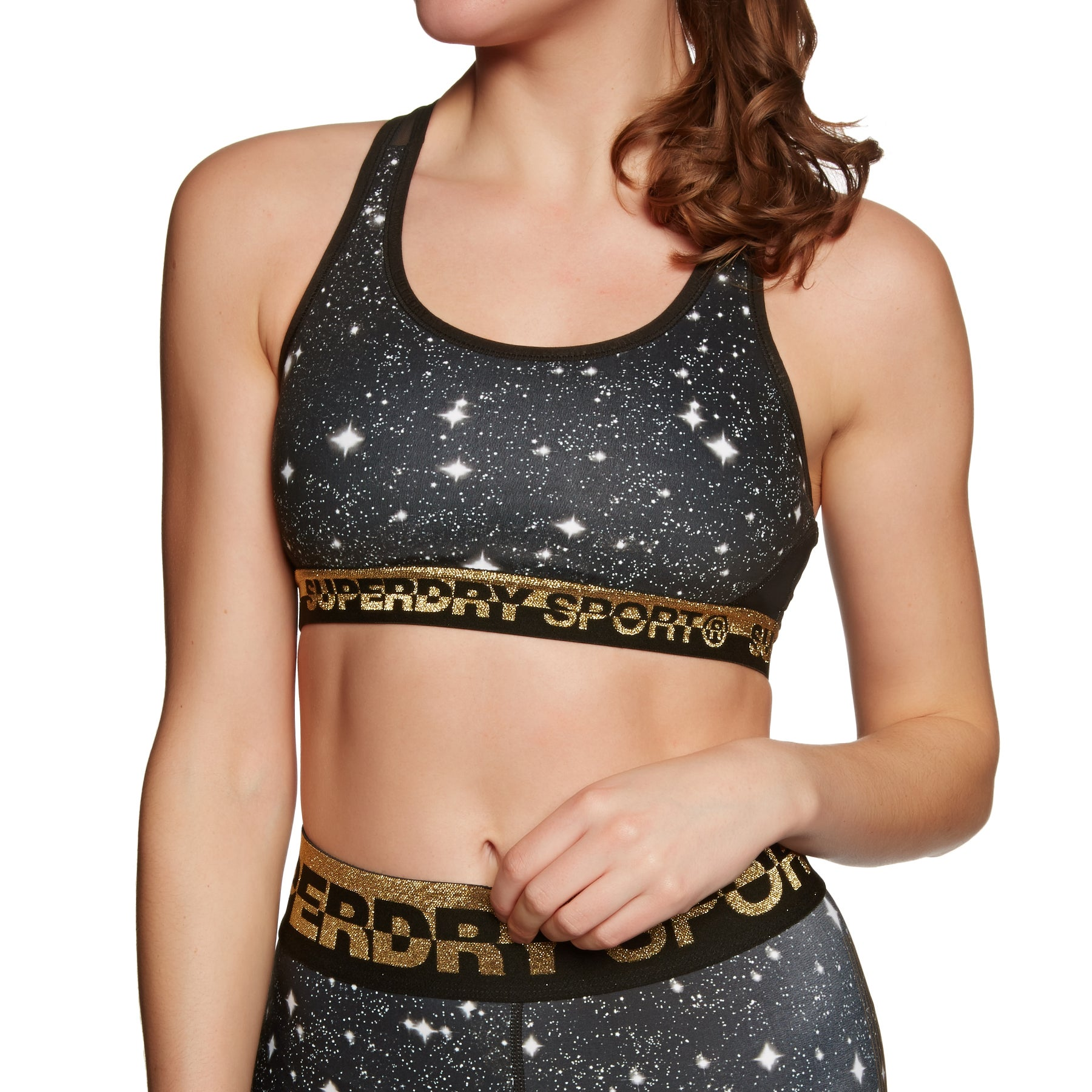 Superdry Core Layer Sports Womens Bra - Galaxy Print