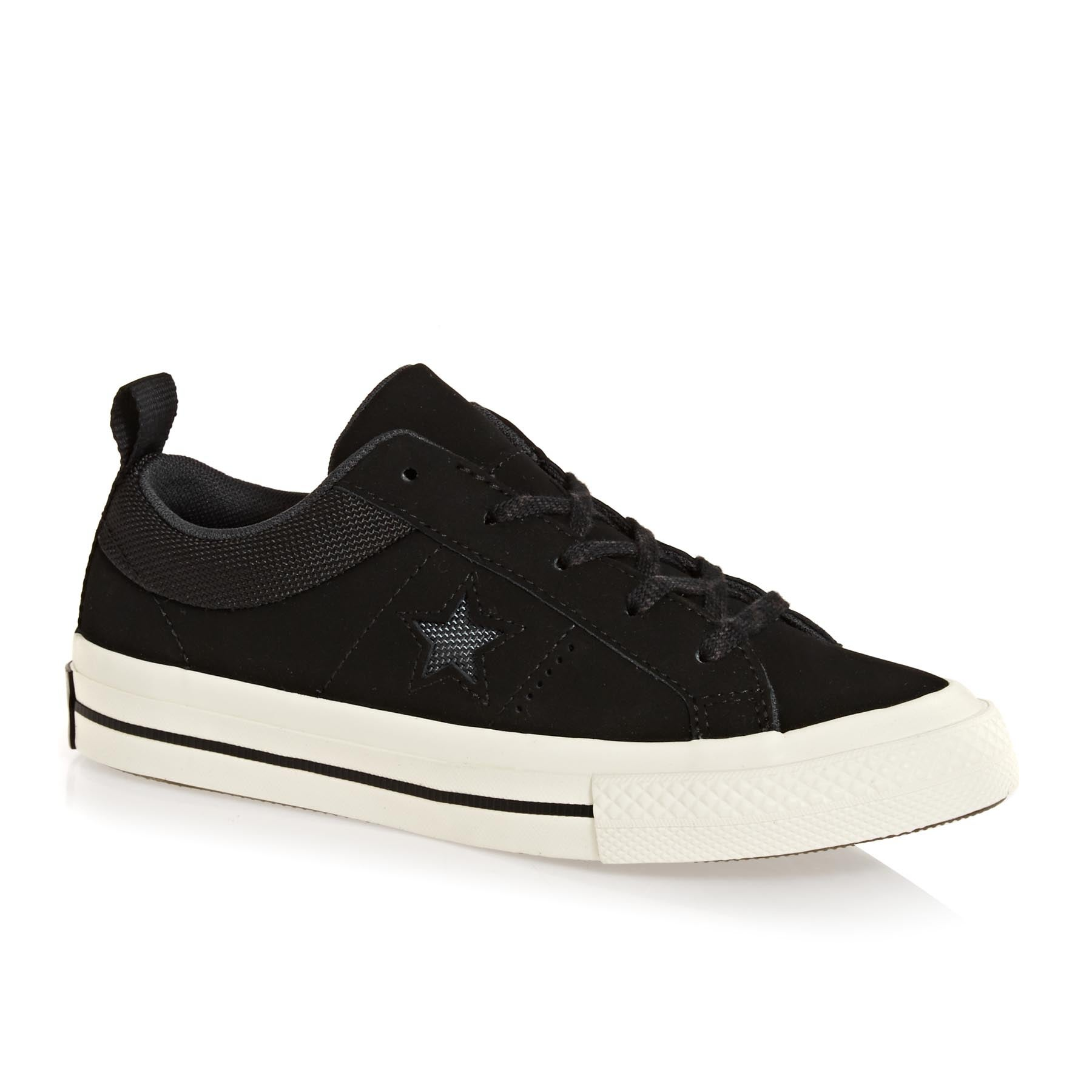Converse One Star Ox Kids Shoes - Black Almost Black Egret