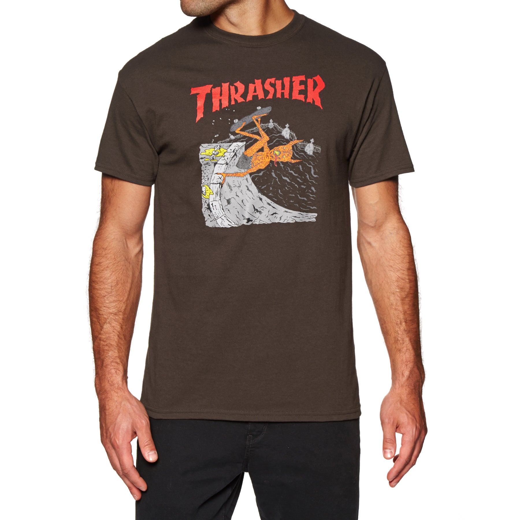 Thrasher Neckface Invert Short Sleeve T-Shirt - Brown