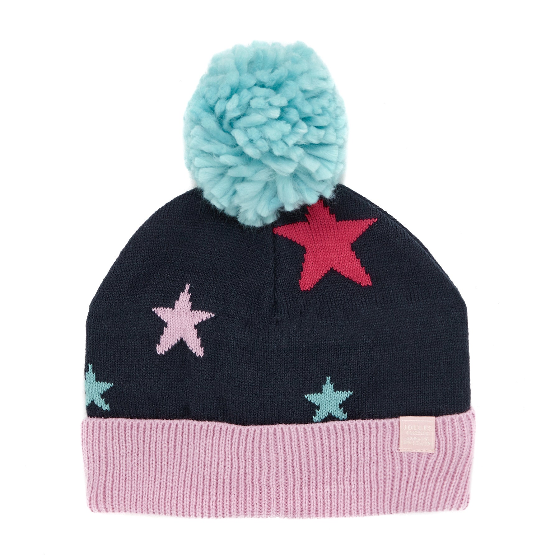 647acd61085 Joules Halley Intarsia Oversized Pom-pom Girls Beanie available from ...