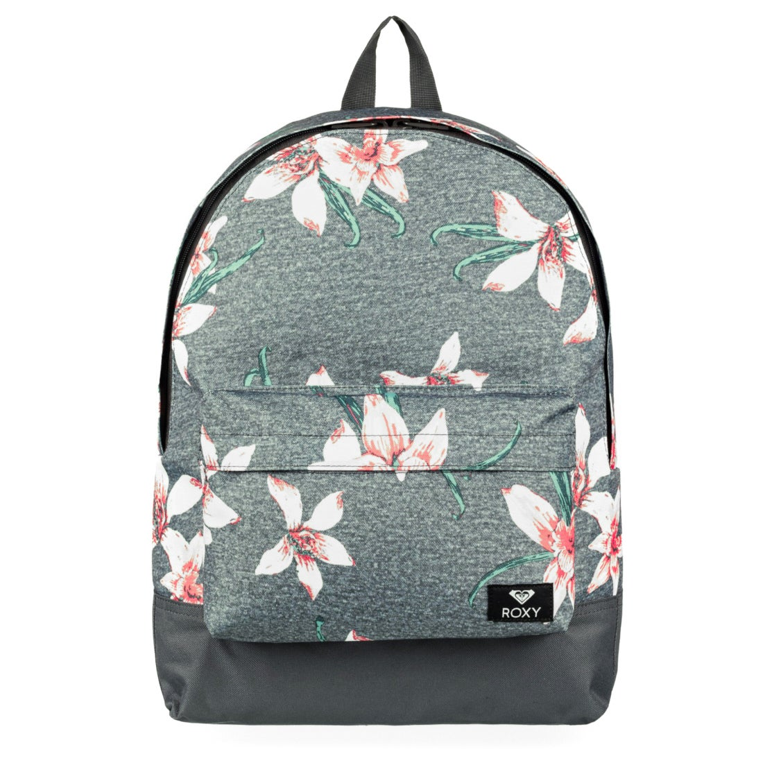 Roxy Sugar Baby Womens Backpack - Charcoal Heather Flower Field