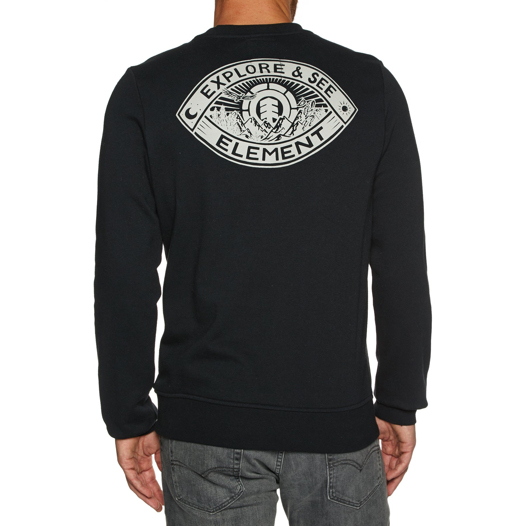 Sudadera Element Eye Crew - Flint Black