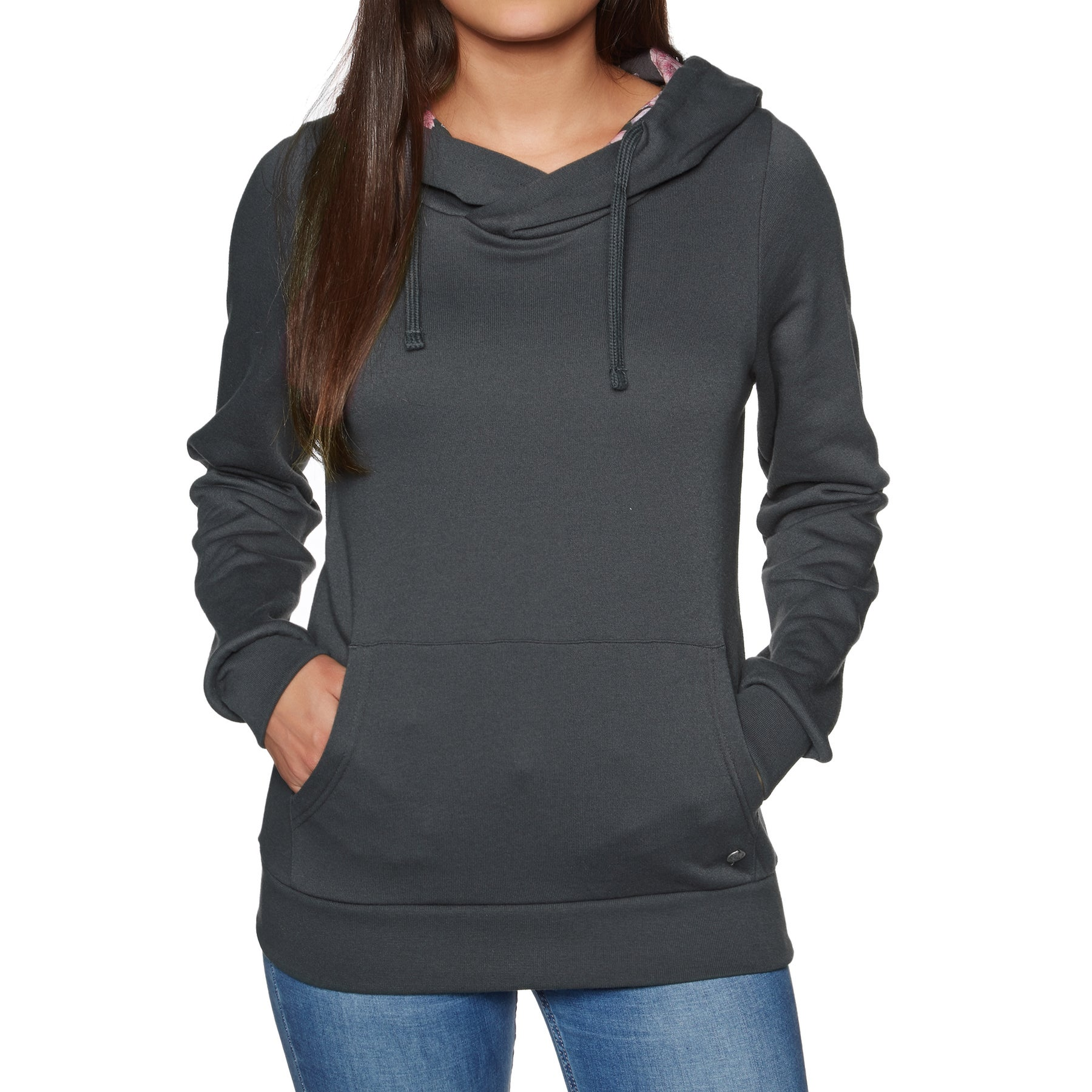 Billabong Louna Womens Pullover Hoody - Off Black