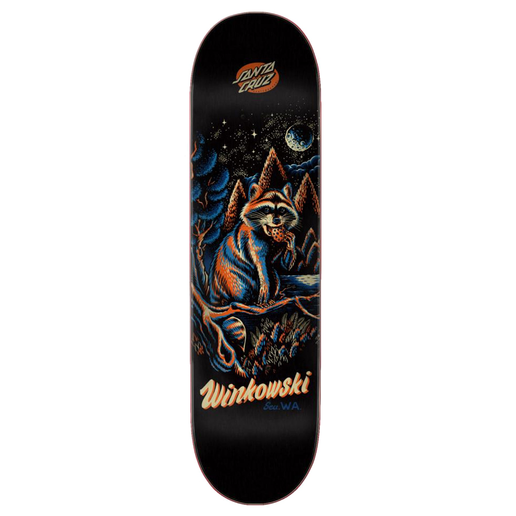 Santa Cruz Winkowski Trash Panda Black 8.6 Inch Skateboard Deck - Black