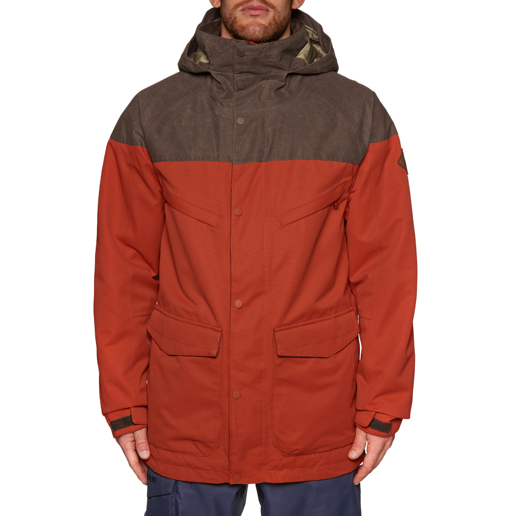 Burton Breach Snowboard-Jacke - Bitter/chestnut Waxed