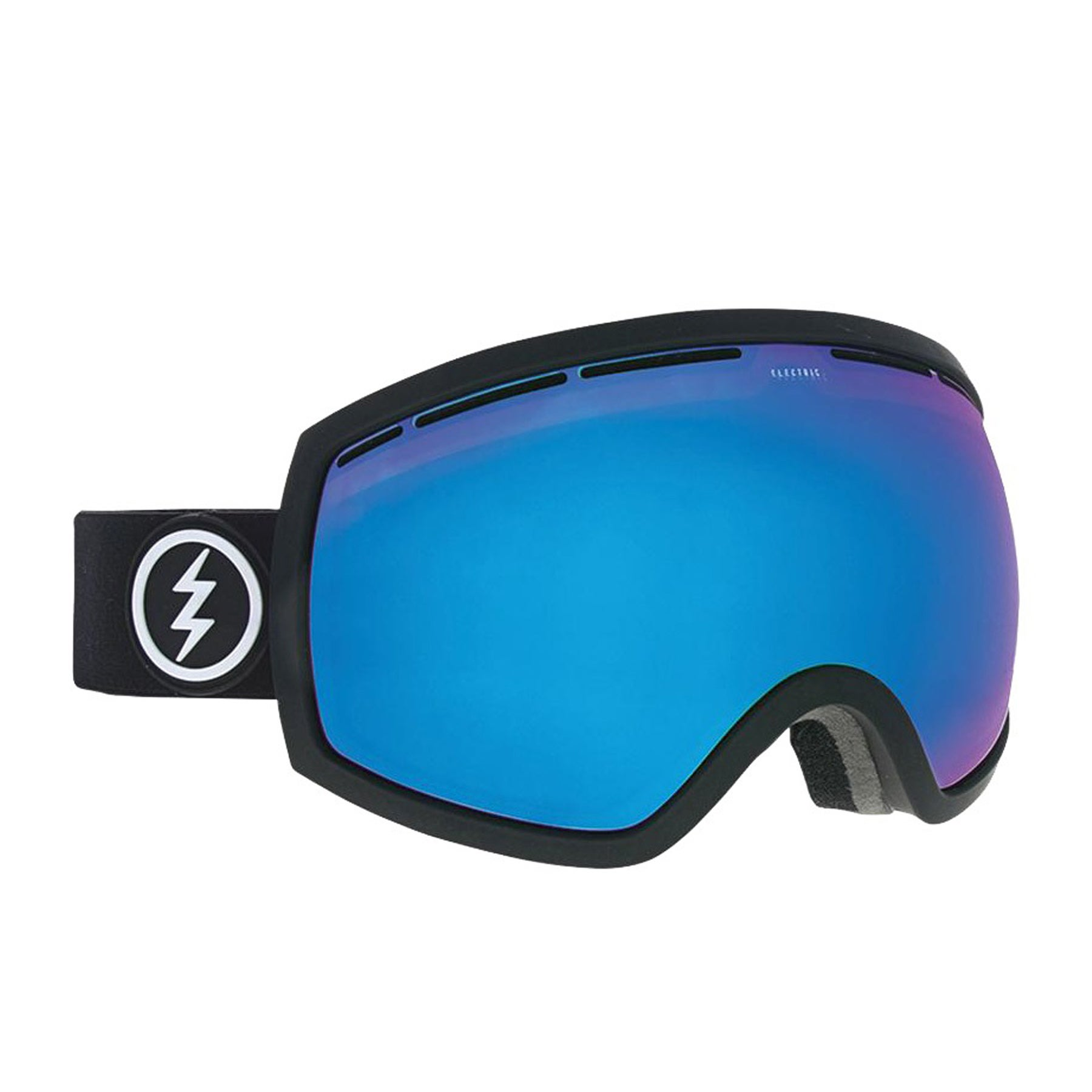 Electric Egg Snow Goggles - Matte Black ~ Brose Blue Chrome