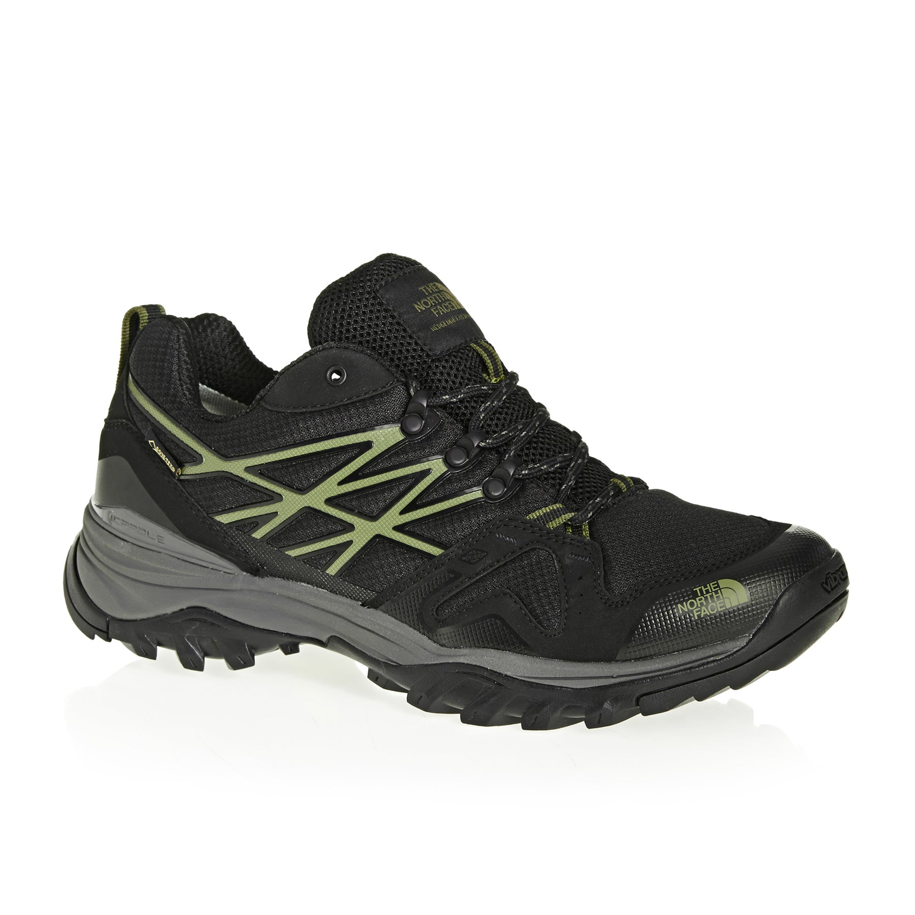 North Face Hedgehog Fastpack GTX Walking Shoes - Four Leaf Clover TNF Black