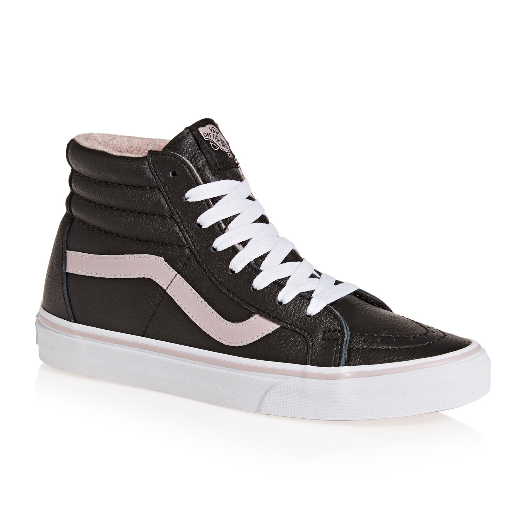 Vans Sk8 Hi Reissue Womens Shoes - Leather Flannel   Violet Ice True White