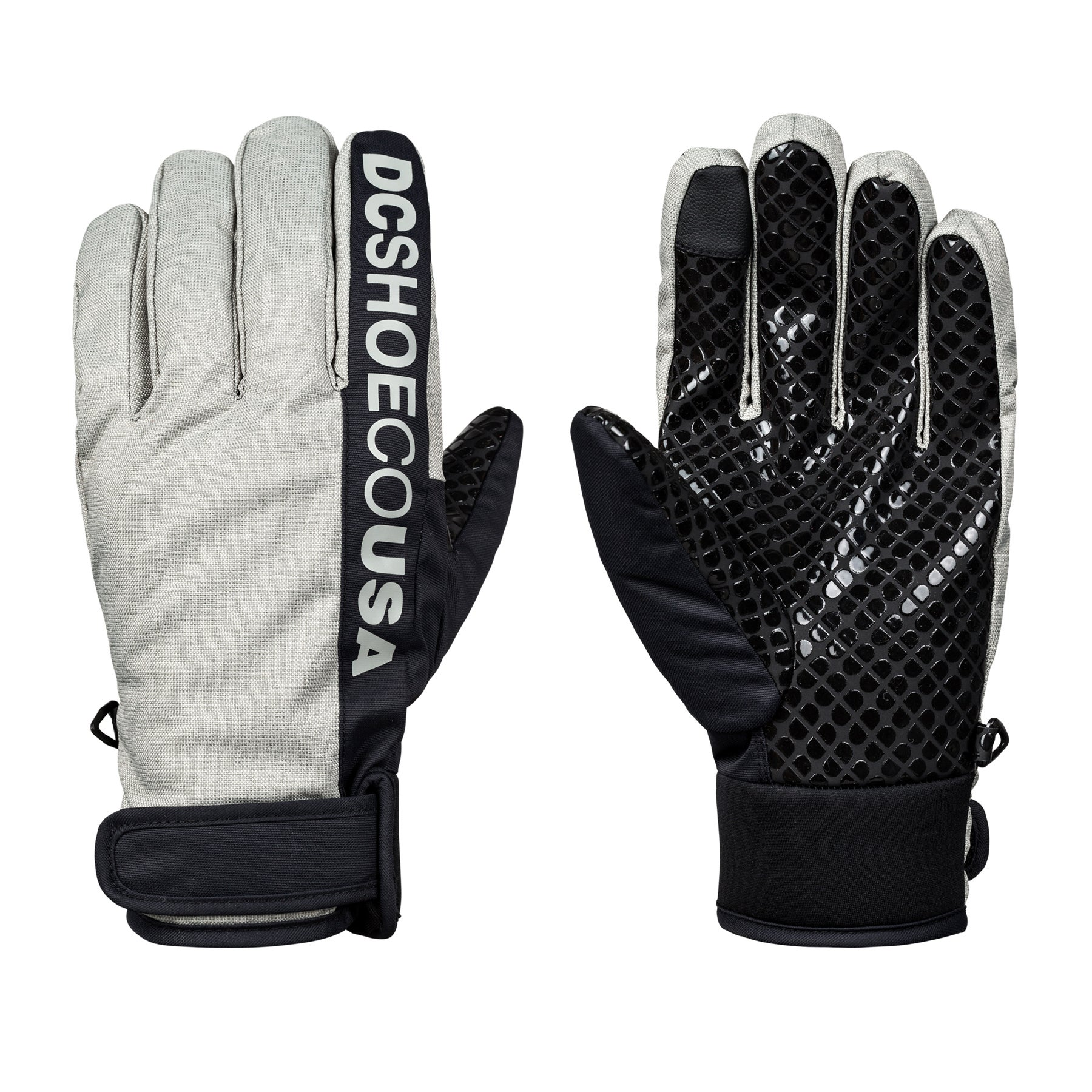 DC Deadeye Snow Gloves - Neutral Gray