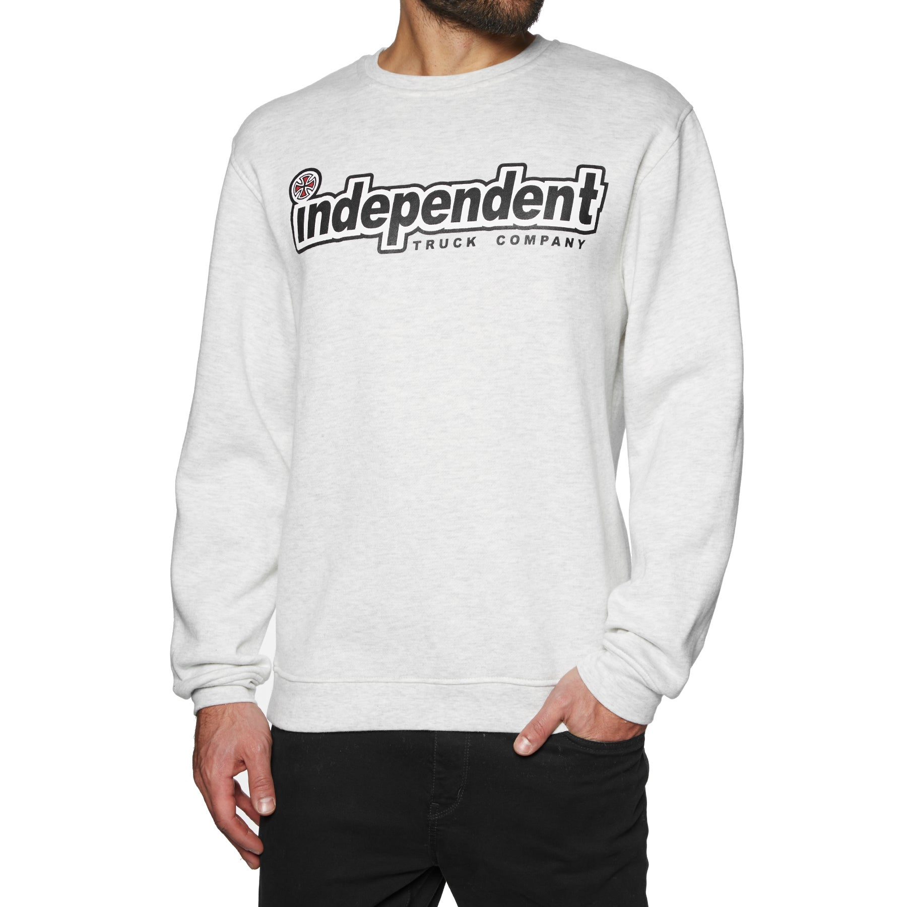 Independent Outline Crew Sweater - Athletic Heather