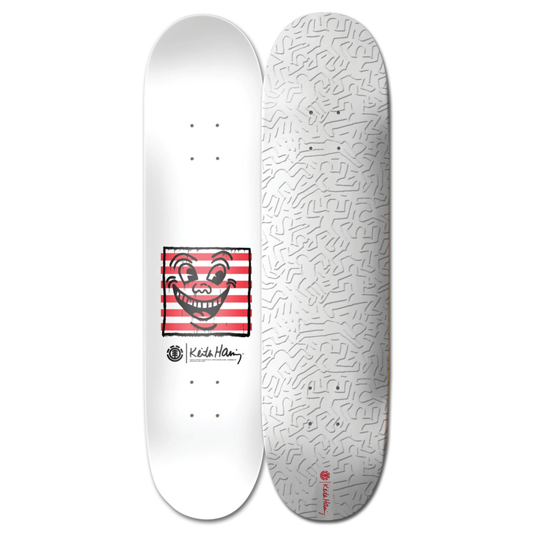 Element Keith Haring 2018 8.25 Inch Skateboard Deck - Multicolour
